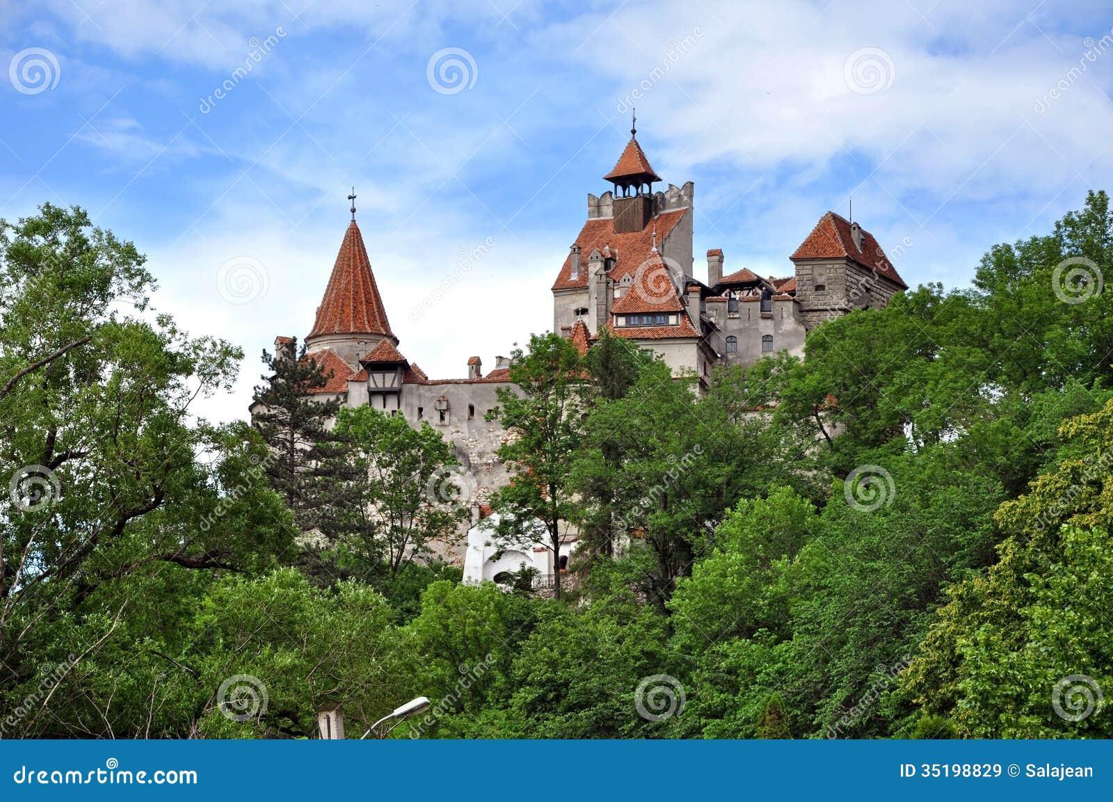 Het Kasteel Van Dracula  Zemelen, Transsylvani u00eb, Roemeni u00eb Royalty vrije Stock Afbeeldingen