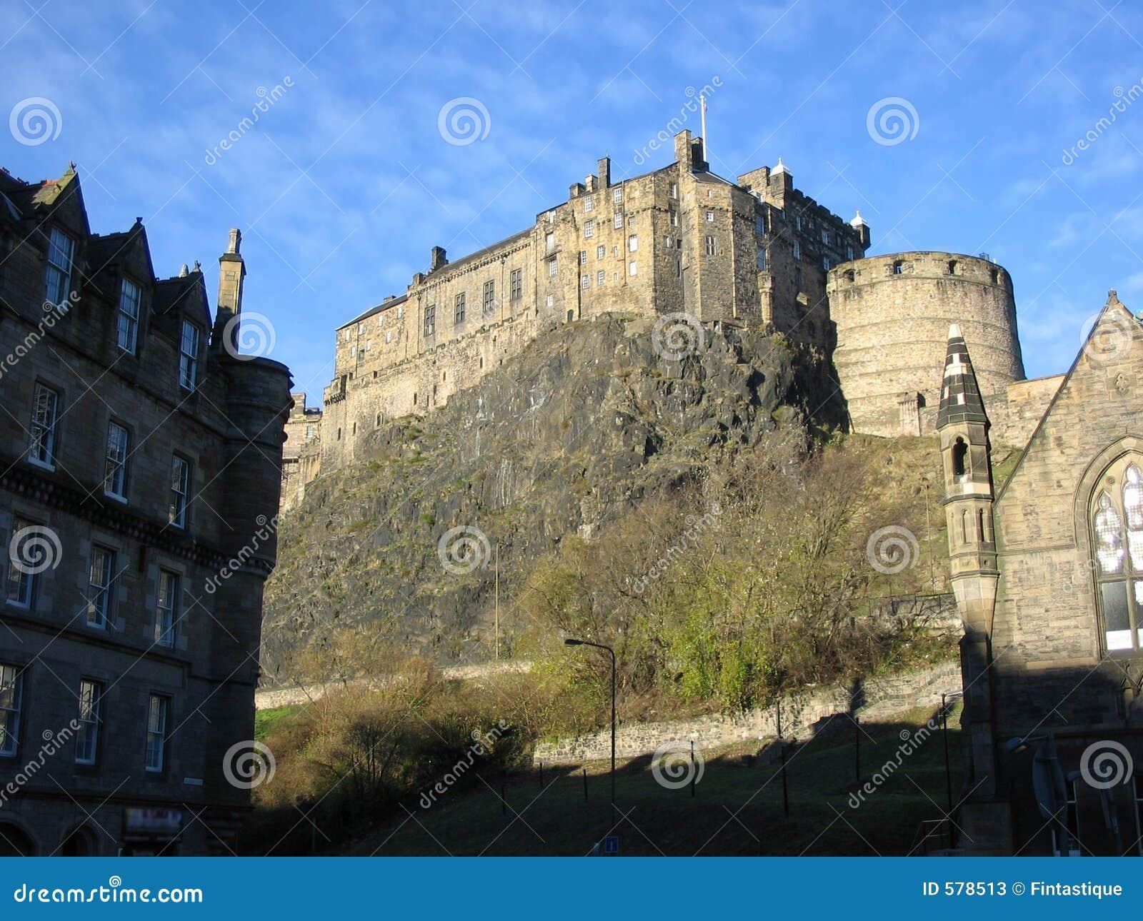 Het Kasteel van Edinburgh van het zuiden