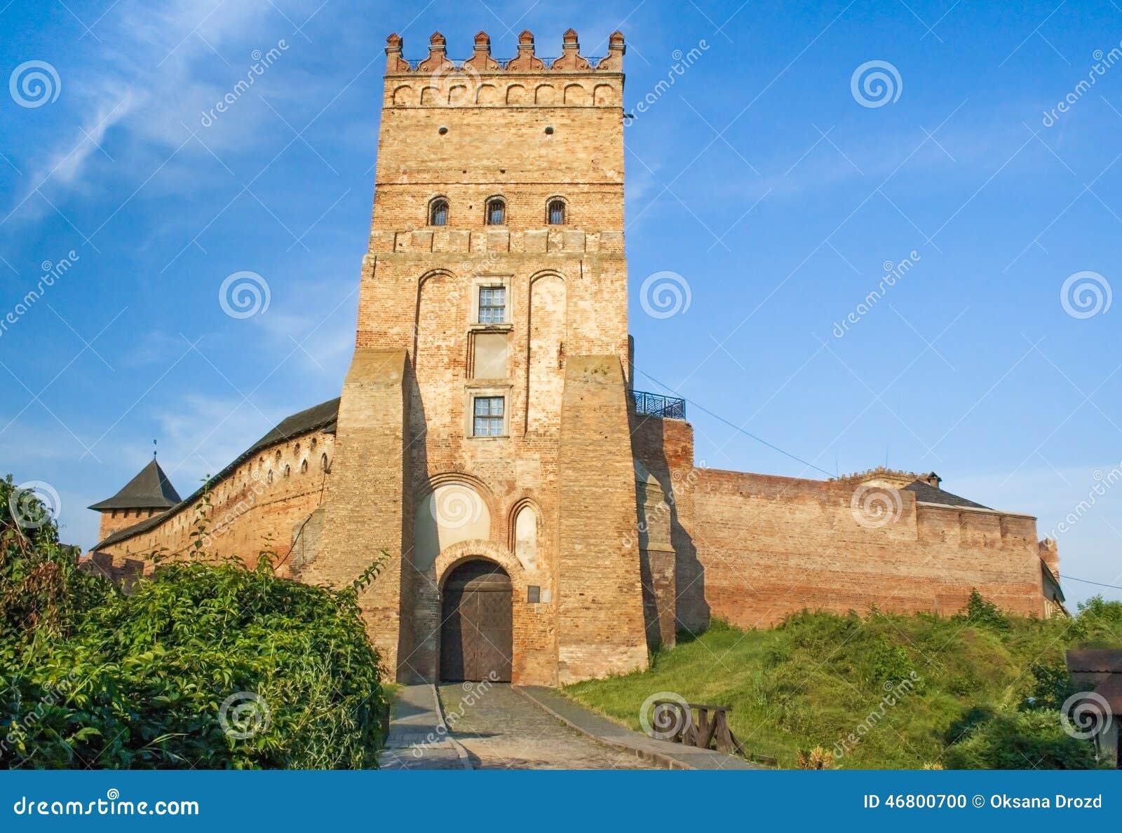 Het Kasteel van Lubart, 14de eeuw, de Oekraïne