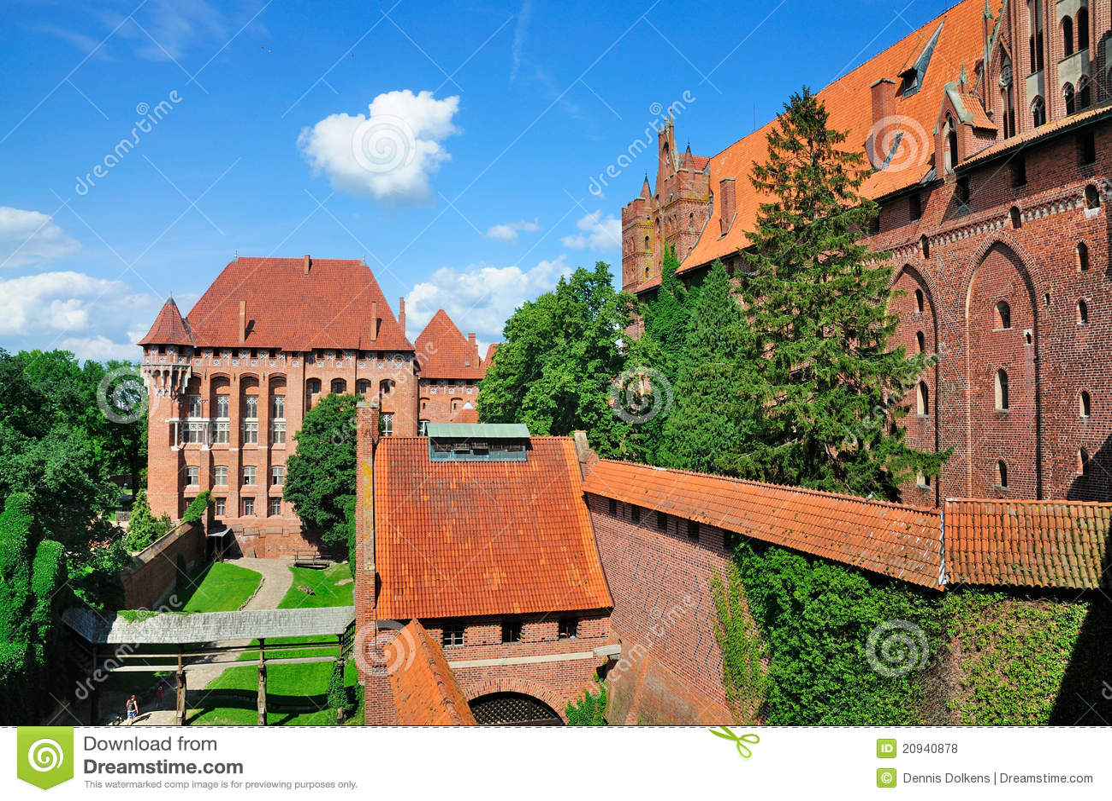 Het Kasteel van Malbork, Polen