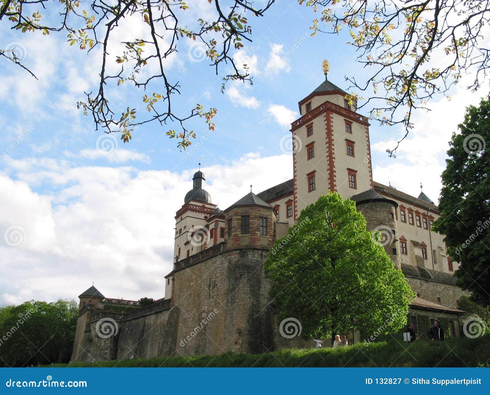 Het kasteel van Marienberg, Wurzburg, Duitsland