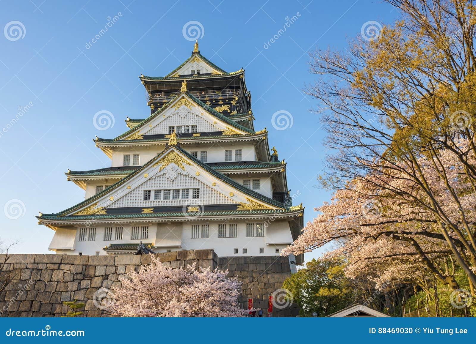 Het Kasteel van Osaka in Japan