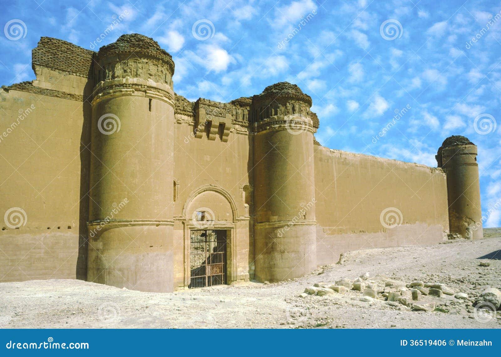 Het kasteel van Qasr al-Hayr al-Sharqi