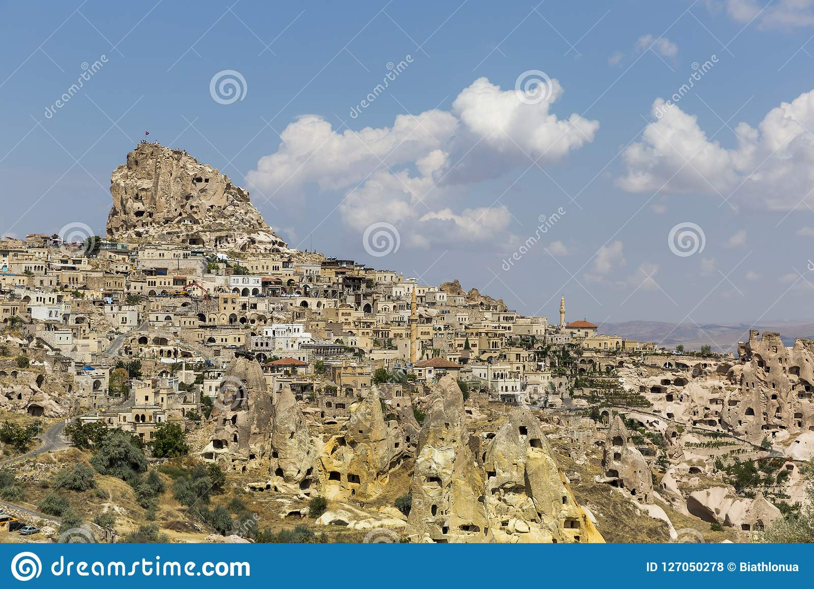 Het Kasteel van Uchisar in Cappadocia