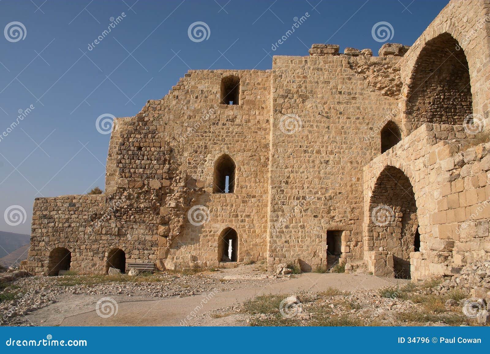Het kasteelruïnes van Karak