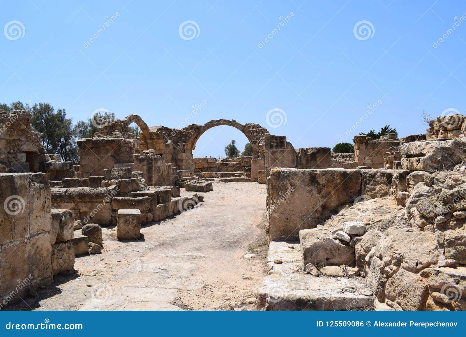 Het Kasteelruïnes van Sarandakolones, Cyprus