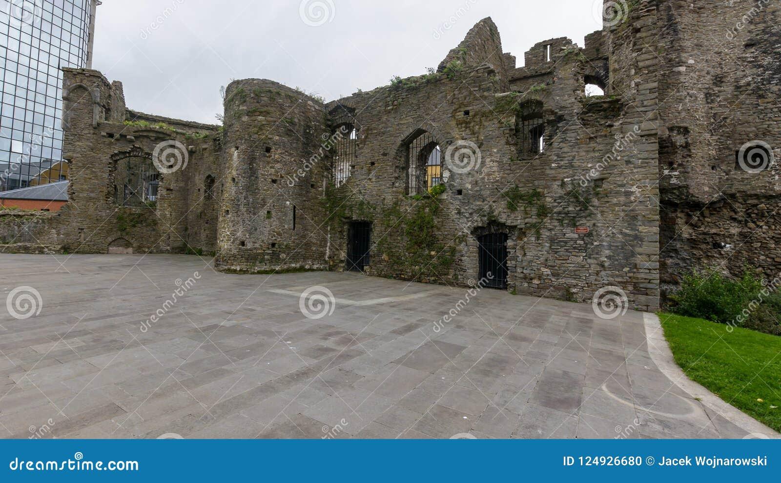 Het Kasteelruïnes van Swansea