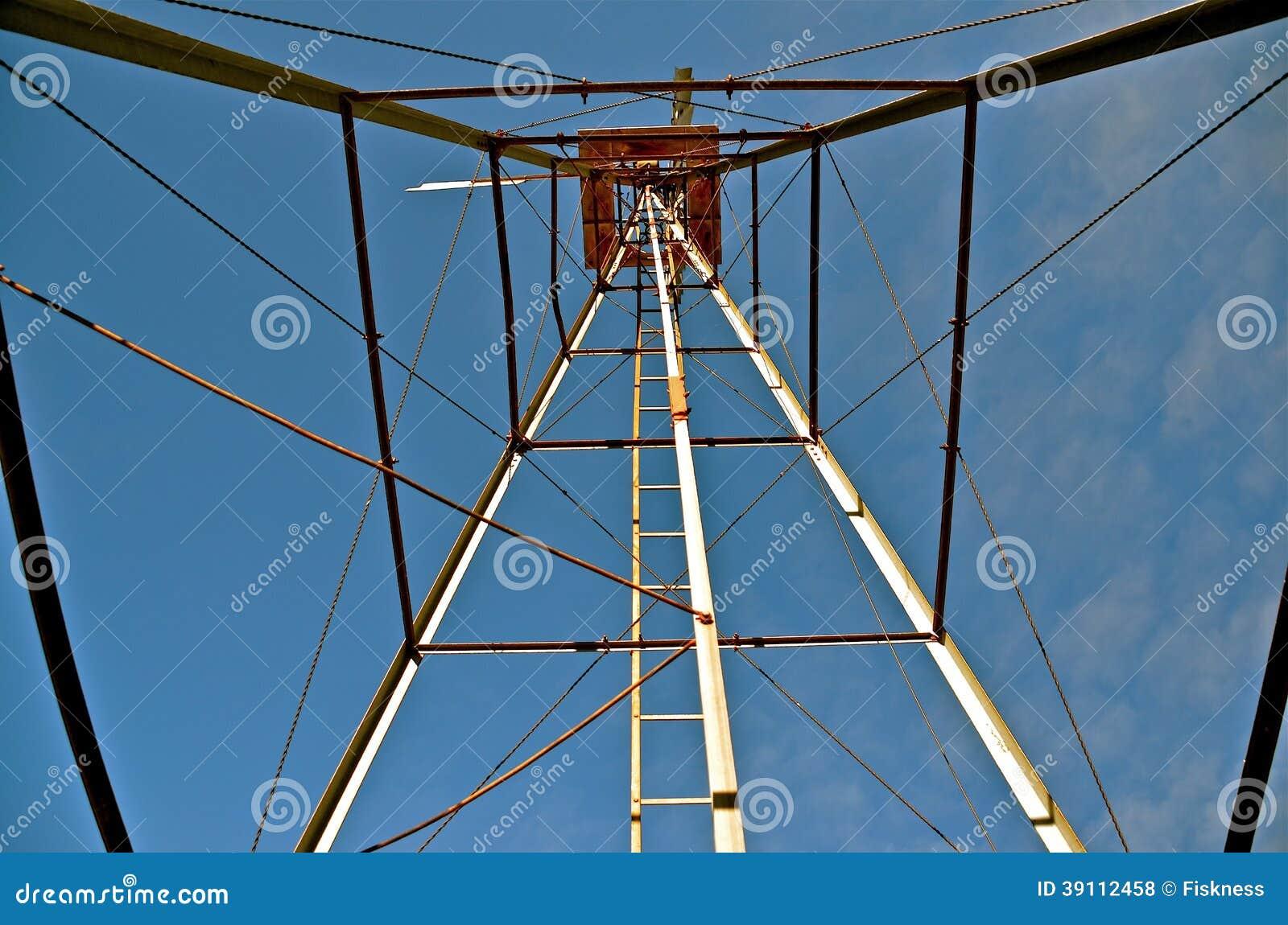 Het kijken omhoog de Blik uit Toren