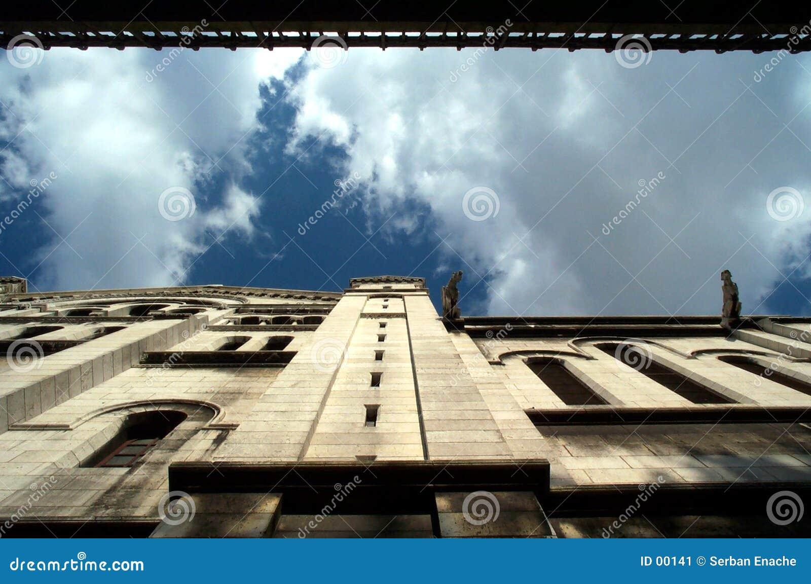 Het kijken omhoog - gargouille
