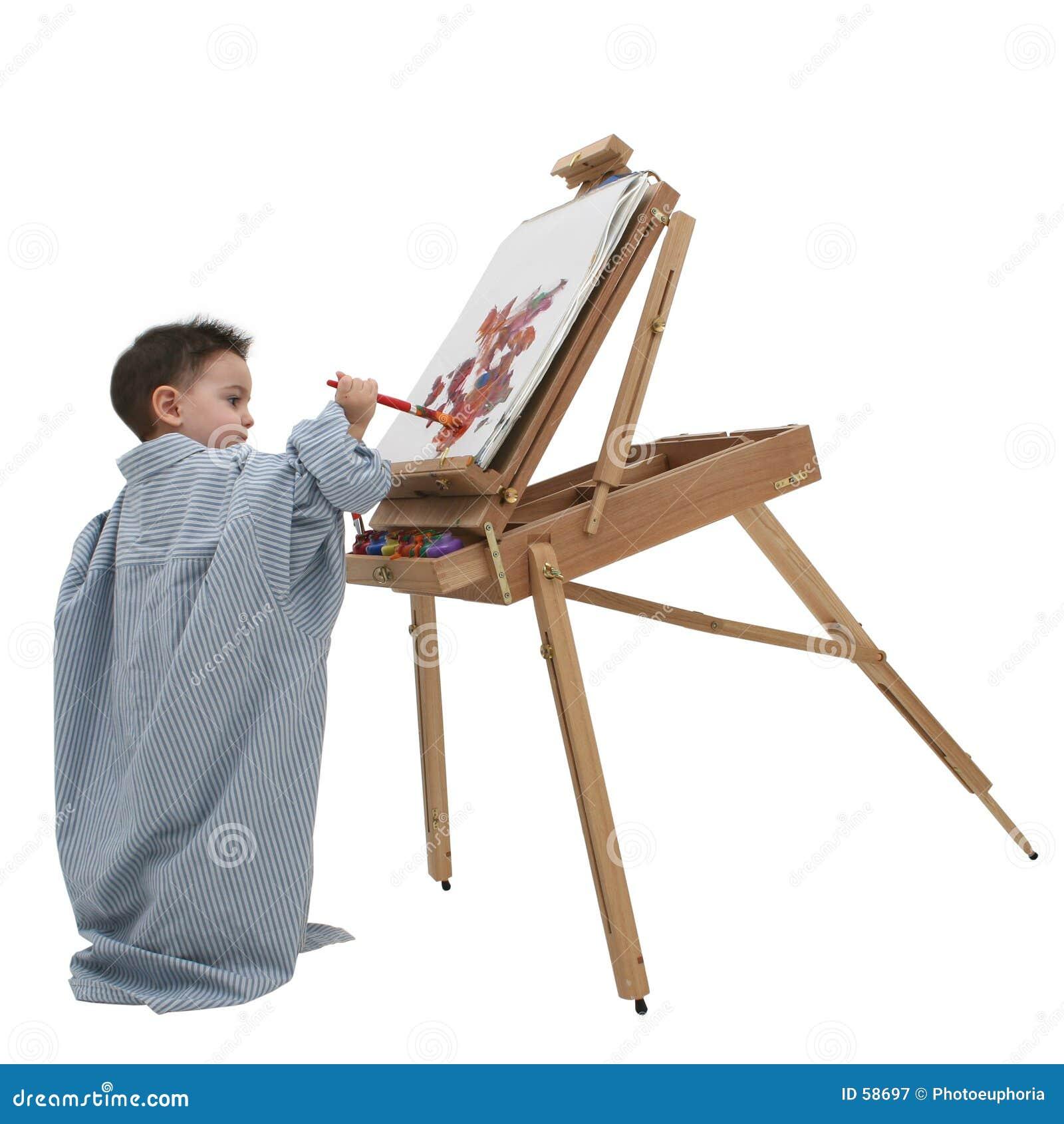 Het Kind dat van de jongen 01 schildert