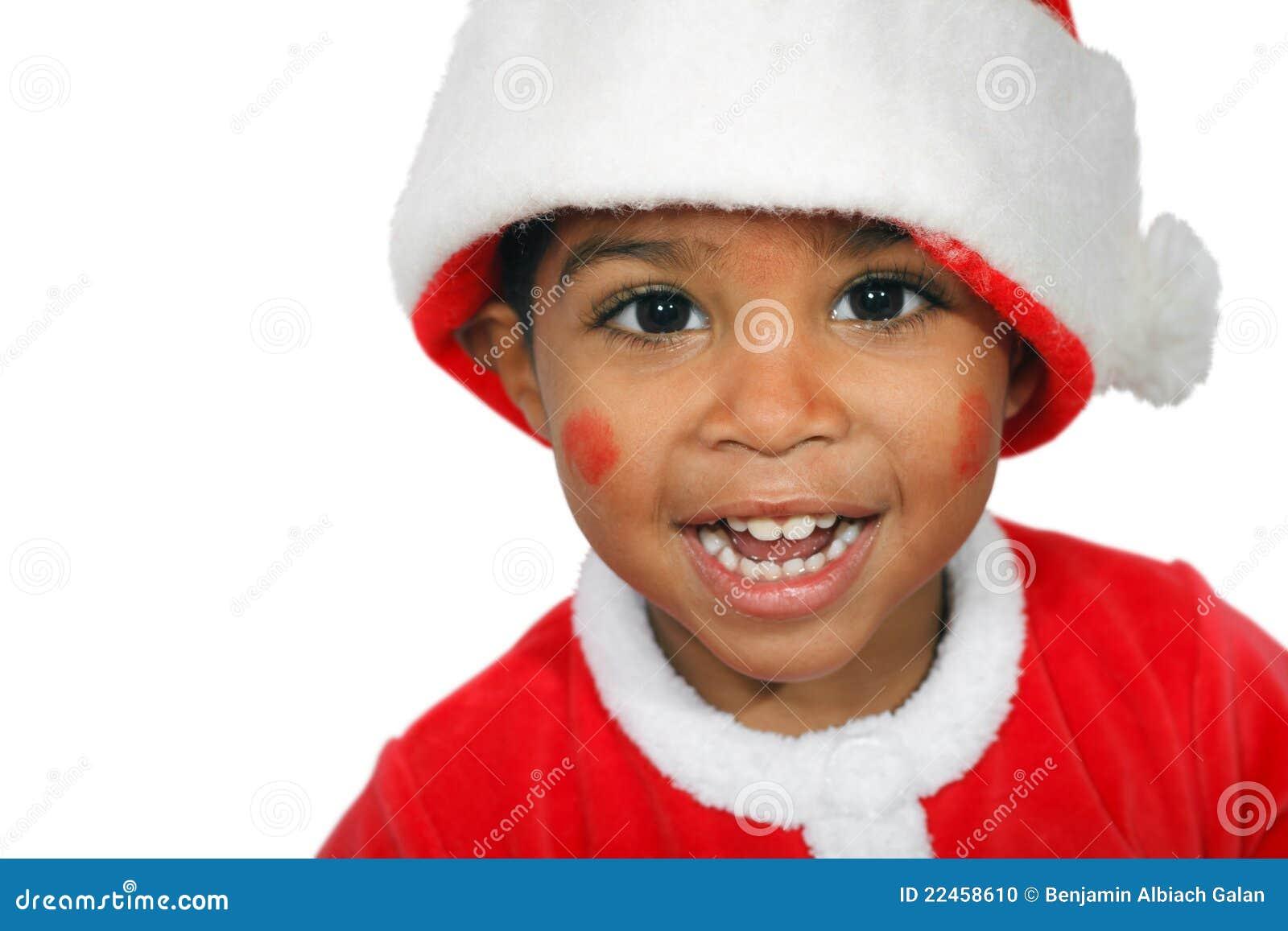 Het Kind Van De Mulat Op Een Witte Achtergrond Stock Foto - Afbeelding: 22458610