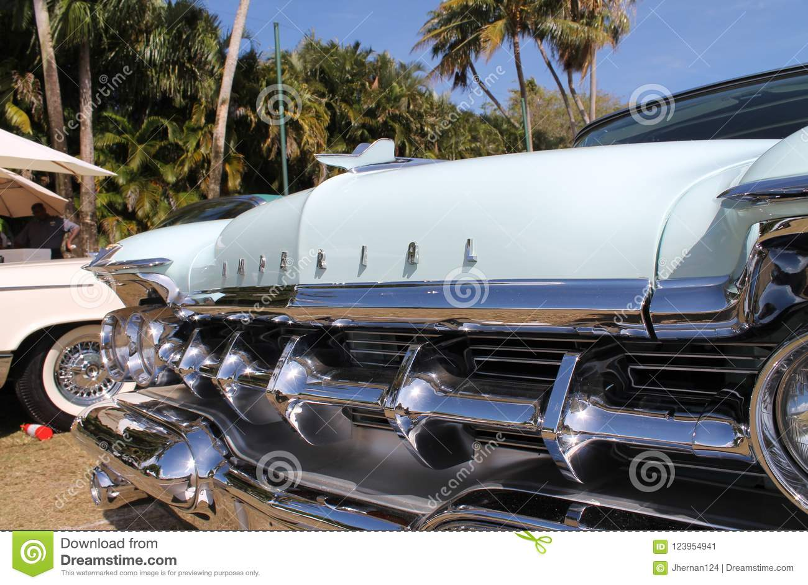 Het klassieke detail van de luxe Amerikaanse Keizerauto