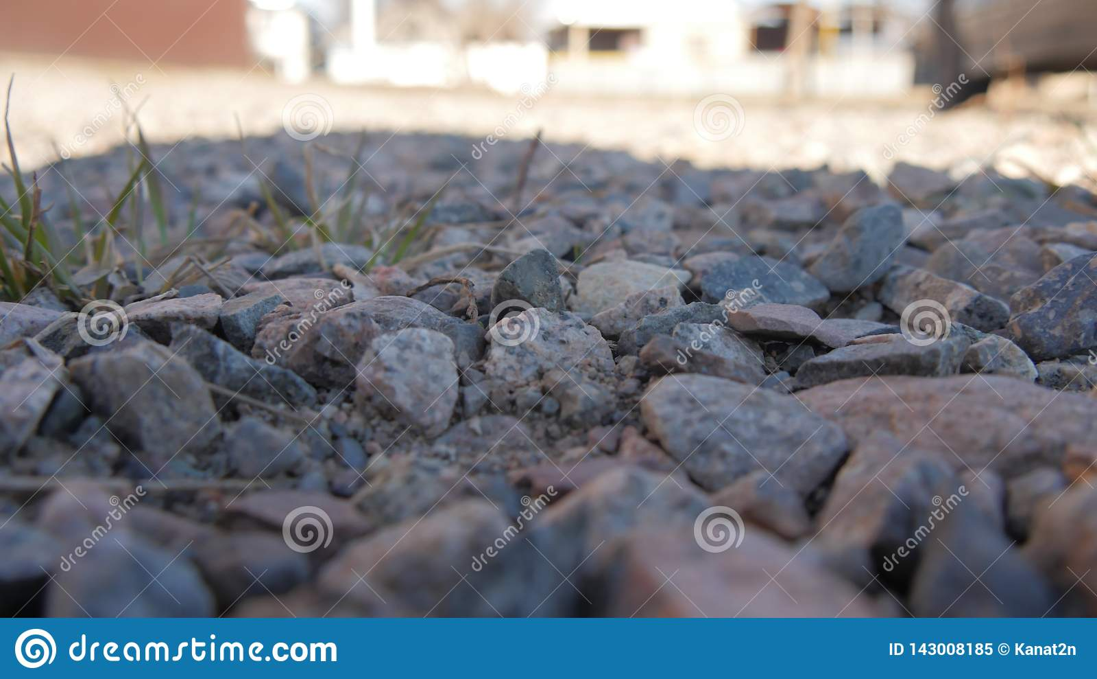 Het kleine groene gras van de steen Kleine steen