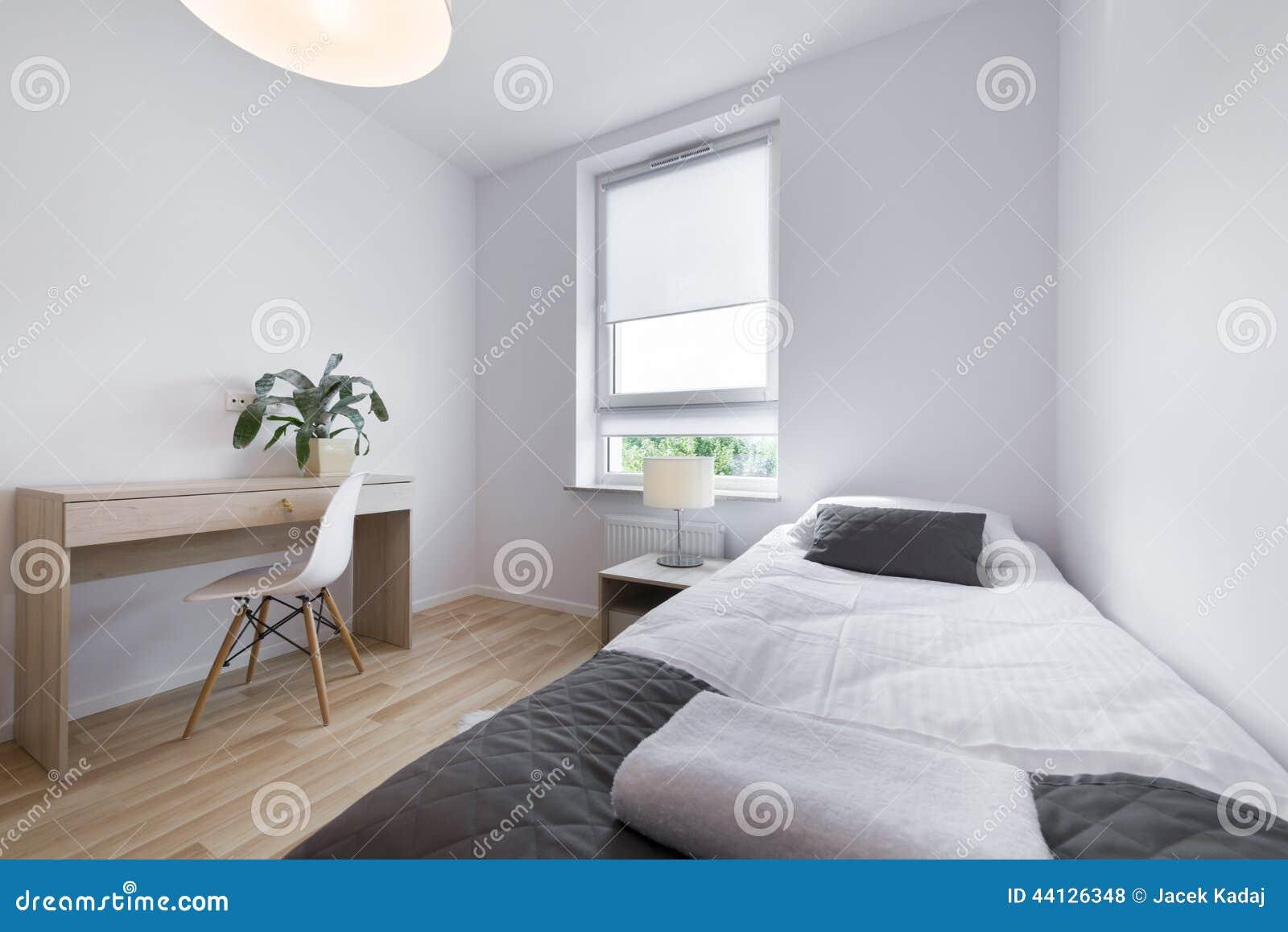 Het kleine moderne binnenlandse ontwerp van de slaapruimte stock foto afbeelding bestaande - Small space phobia design ...