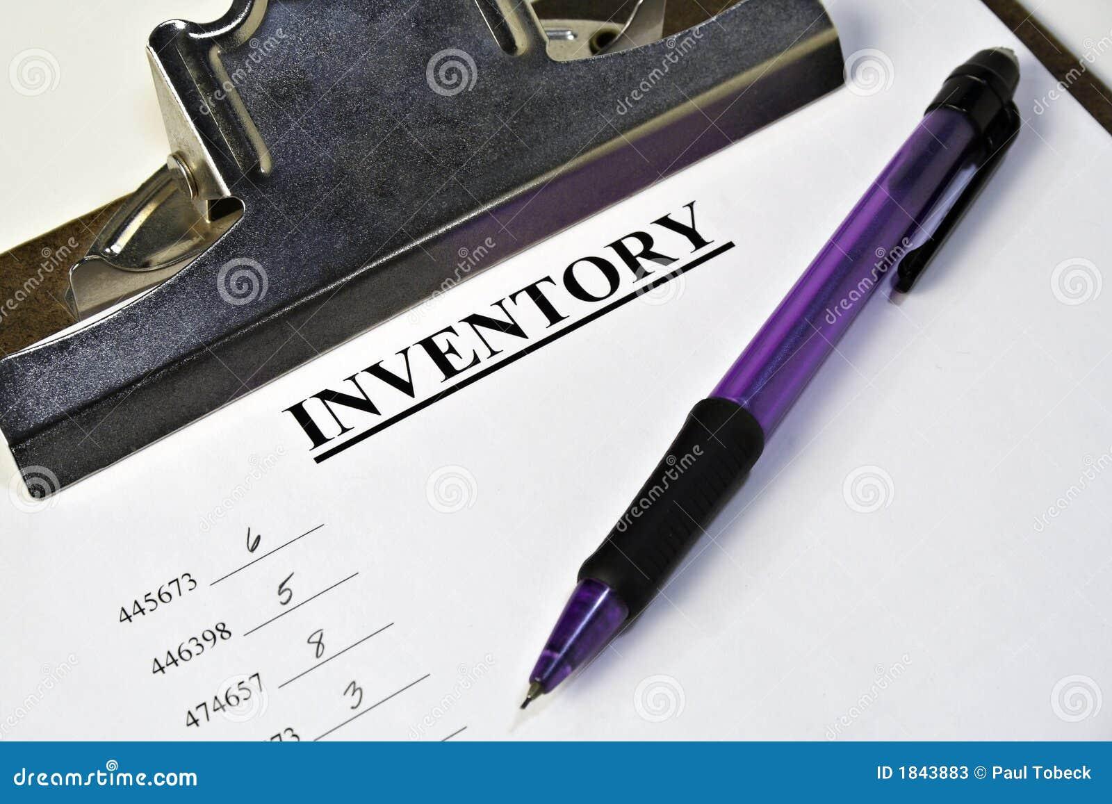 Het Klembord van de inventaris