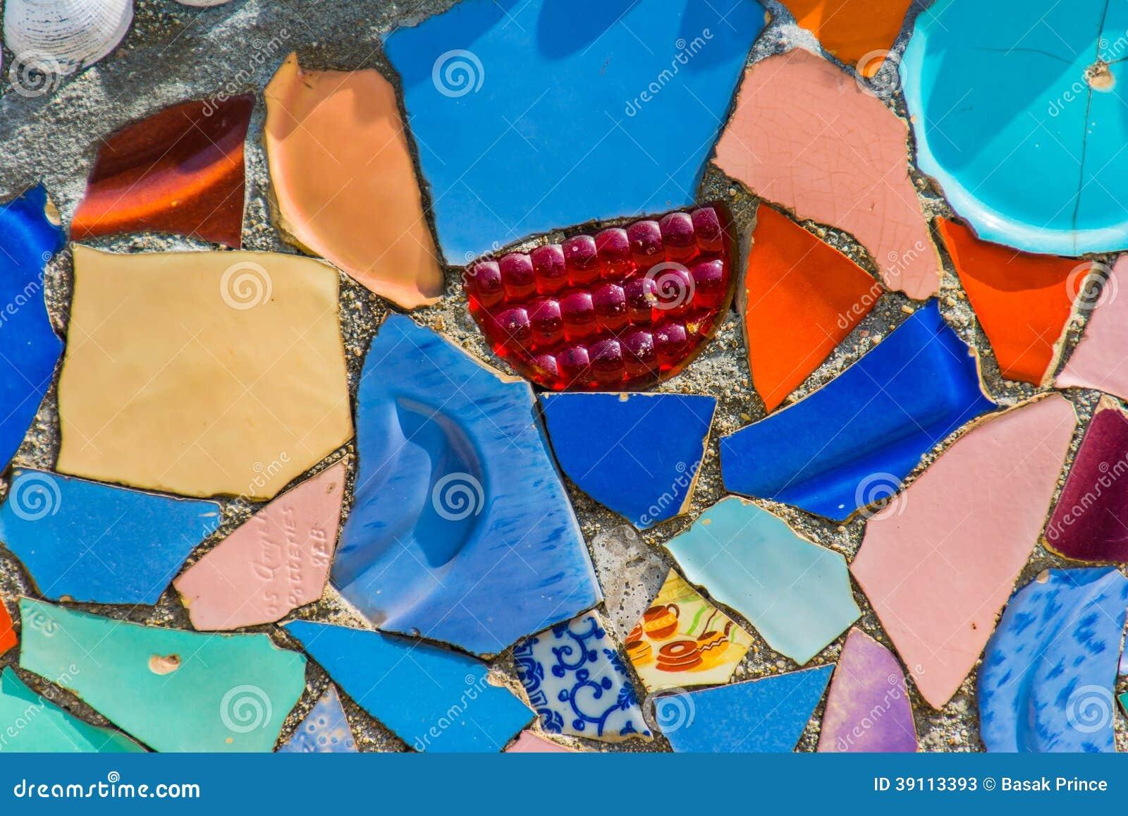 Het kleurrijke Detail van de Keramiekmuur