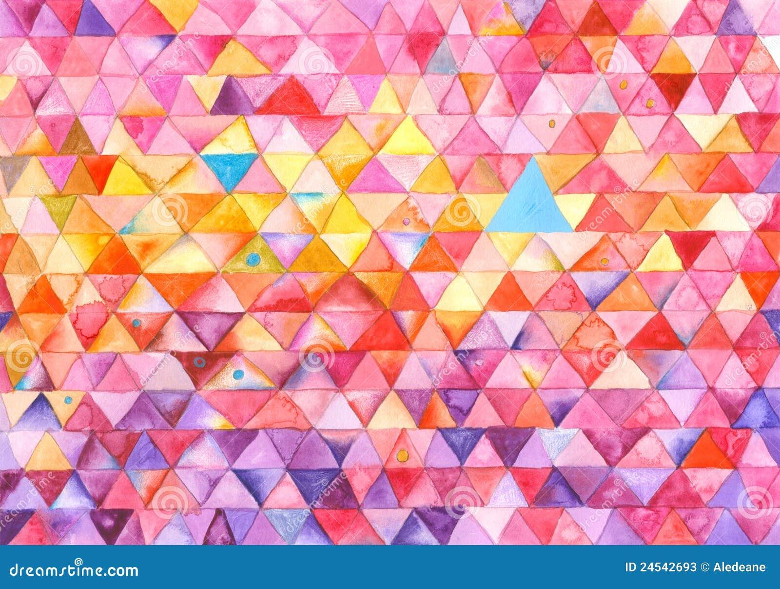 het kleurrijke schilderen van driehoeken stock foto 39 s afbeelding 24542693. Black Bedroom Furniture Sets. Home Design Ideas