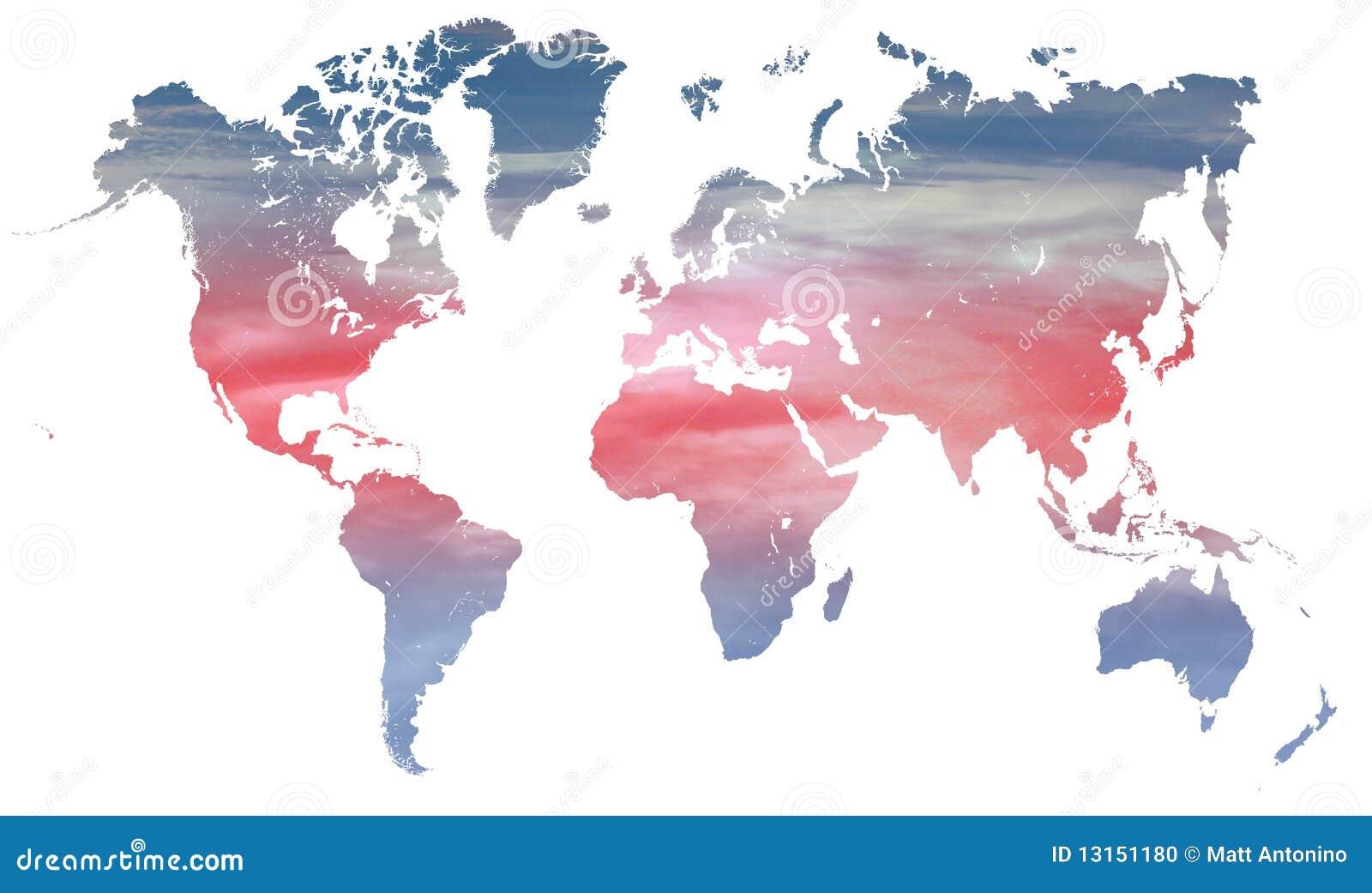Het klimaat en de temperatuur van de wereld stock foto afbeelding 13151180 - Spiegelhuis van de wereld ...