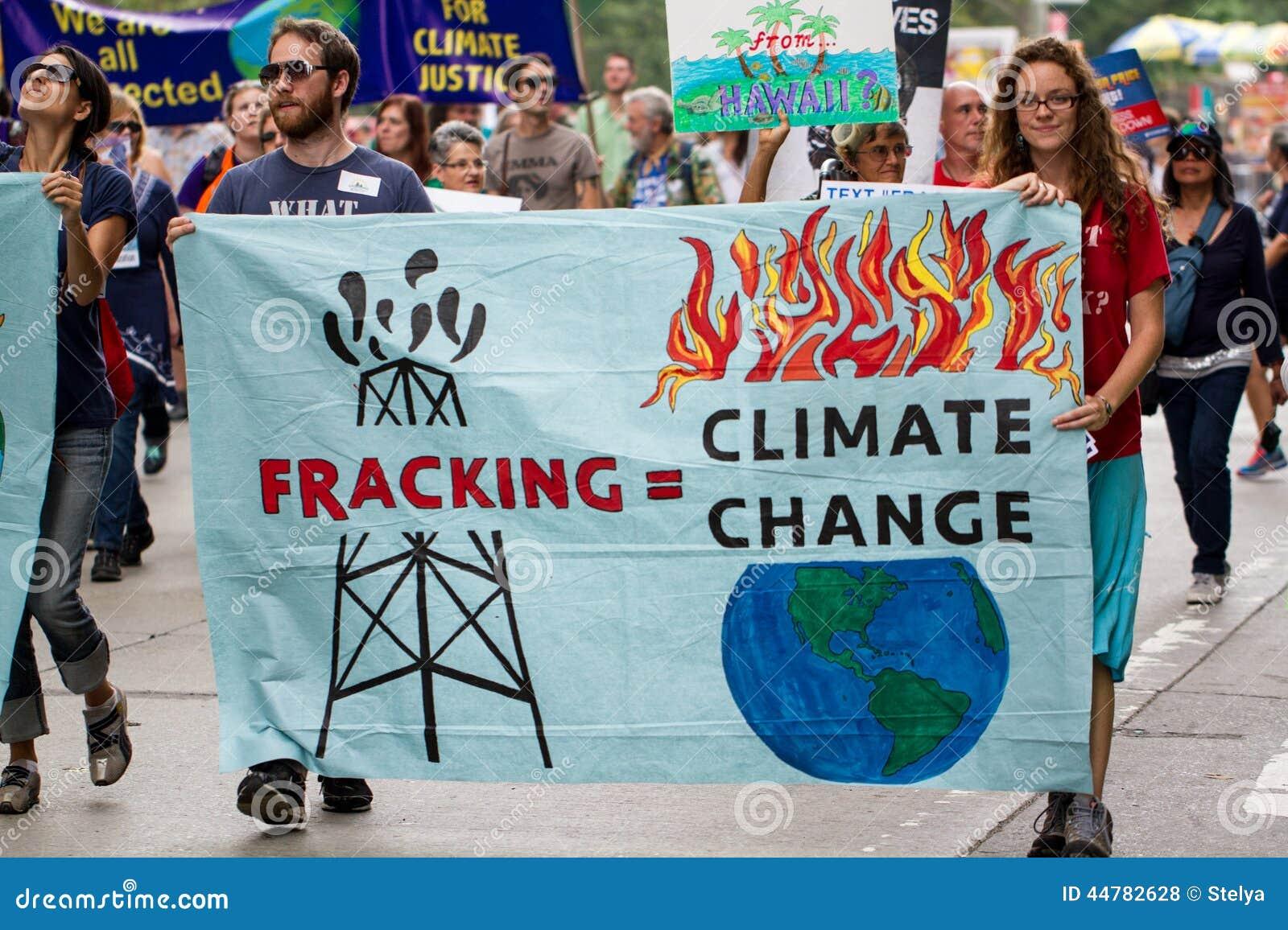 Het Klimaat Maart NYC van mensen