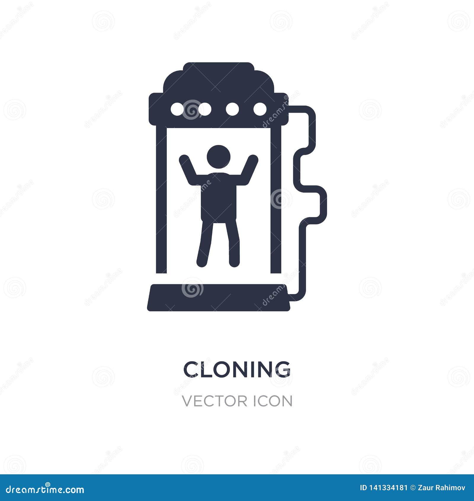 Het klonen pictogram op witte achtergrond Eenvoudige elementenillustratie van Toekomstig technologieconcept