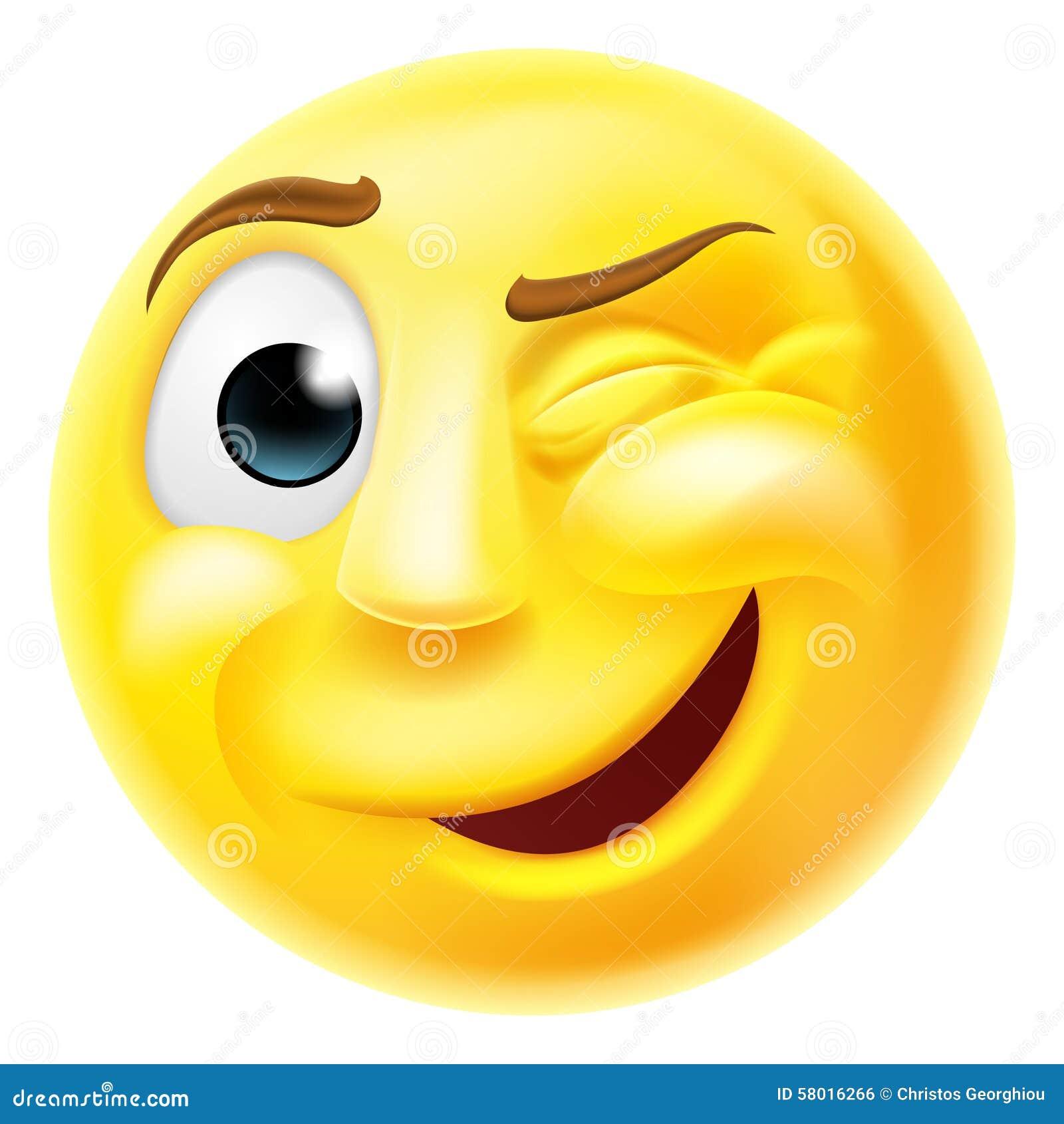 Het knipogen Emoji Emoticon