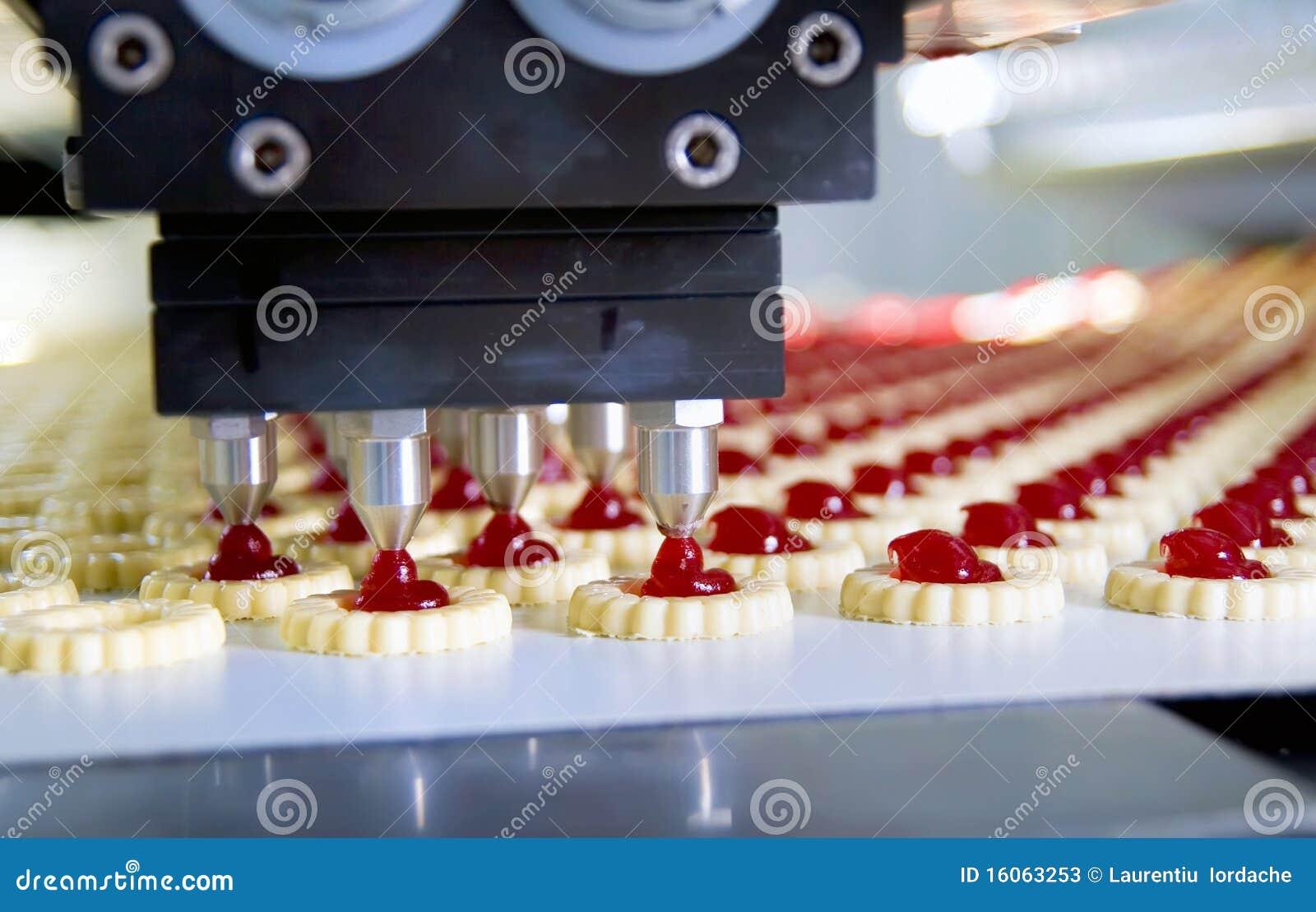 Het koekje van de productie in fabriek