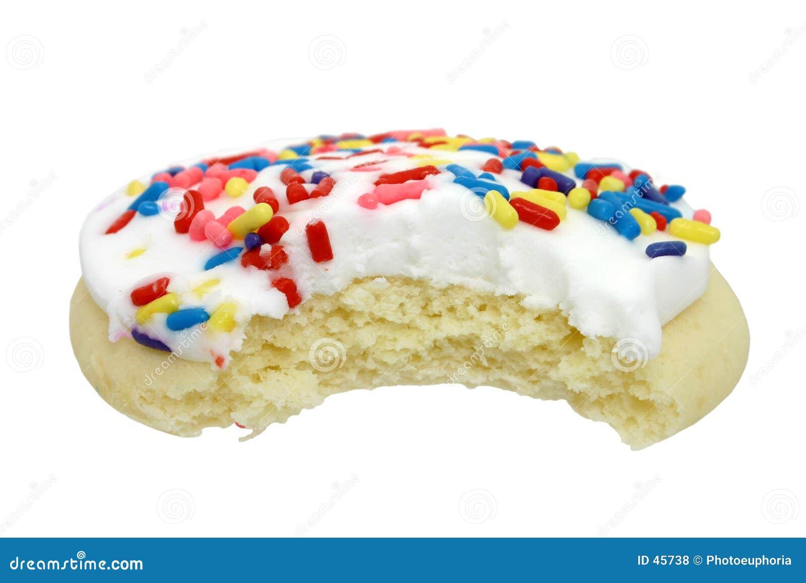 Het Koekje van de suiker met Wit Suikerglazuur