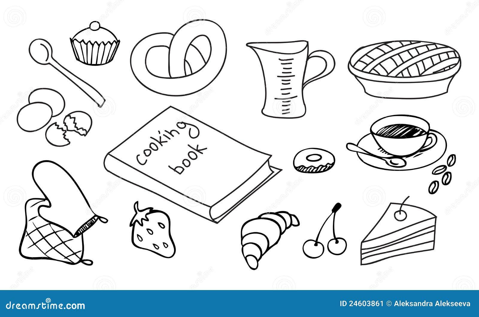 het koken en het bakken reeks vector illustratie