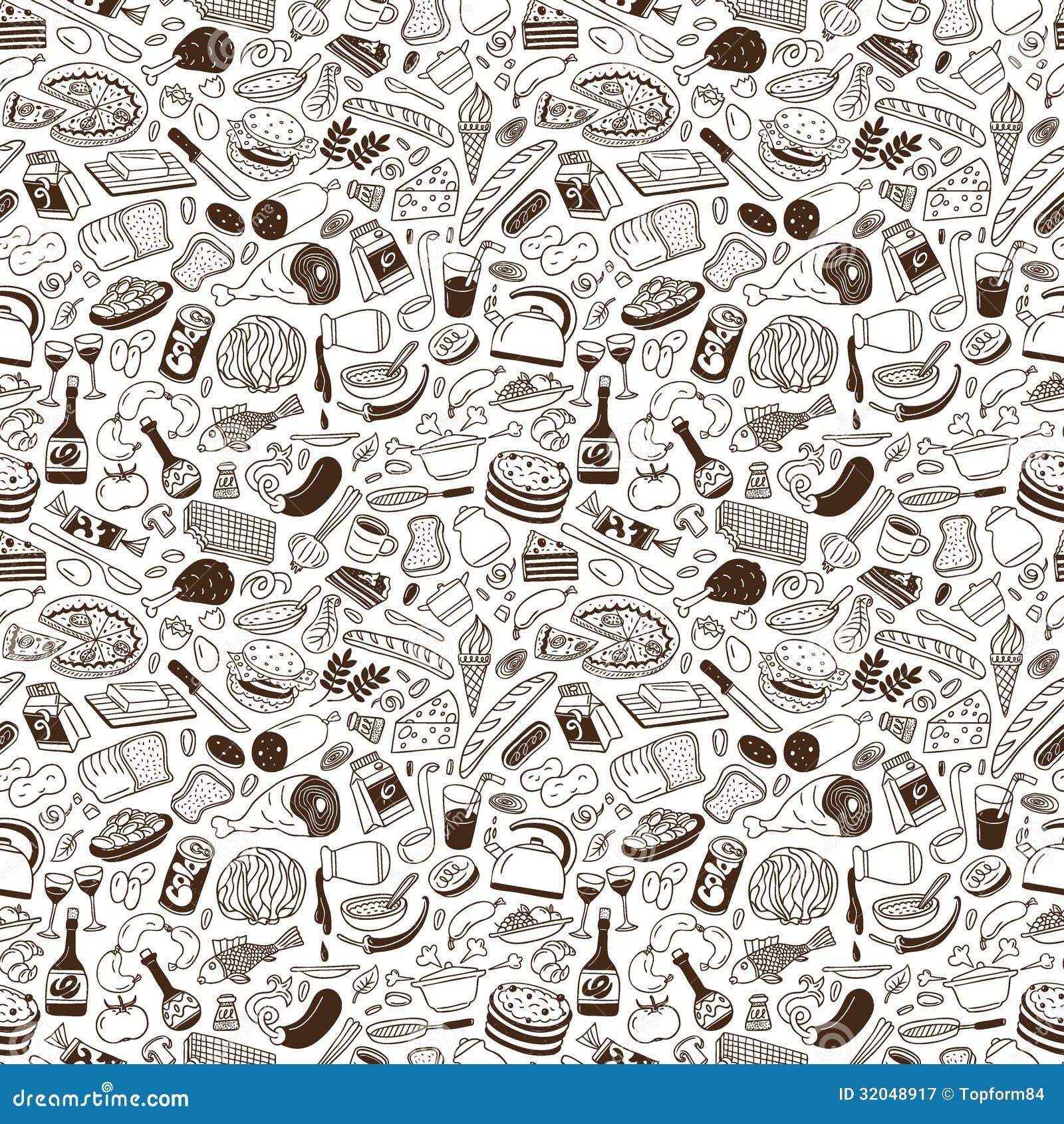 Het koken naadloze achtergrond stock afbeelding afbeelding 32048917 - Koken afbeelding ...