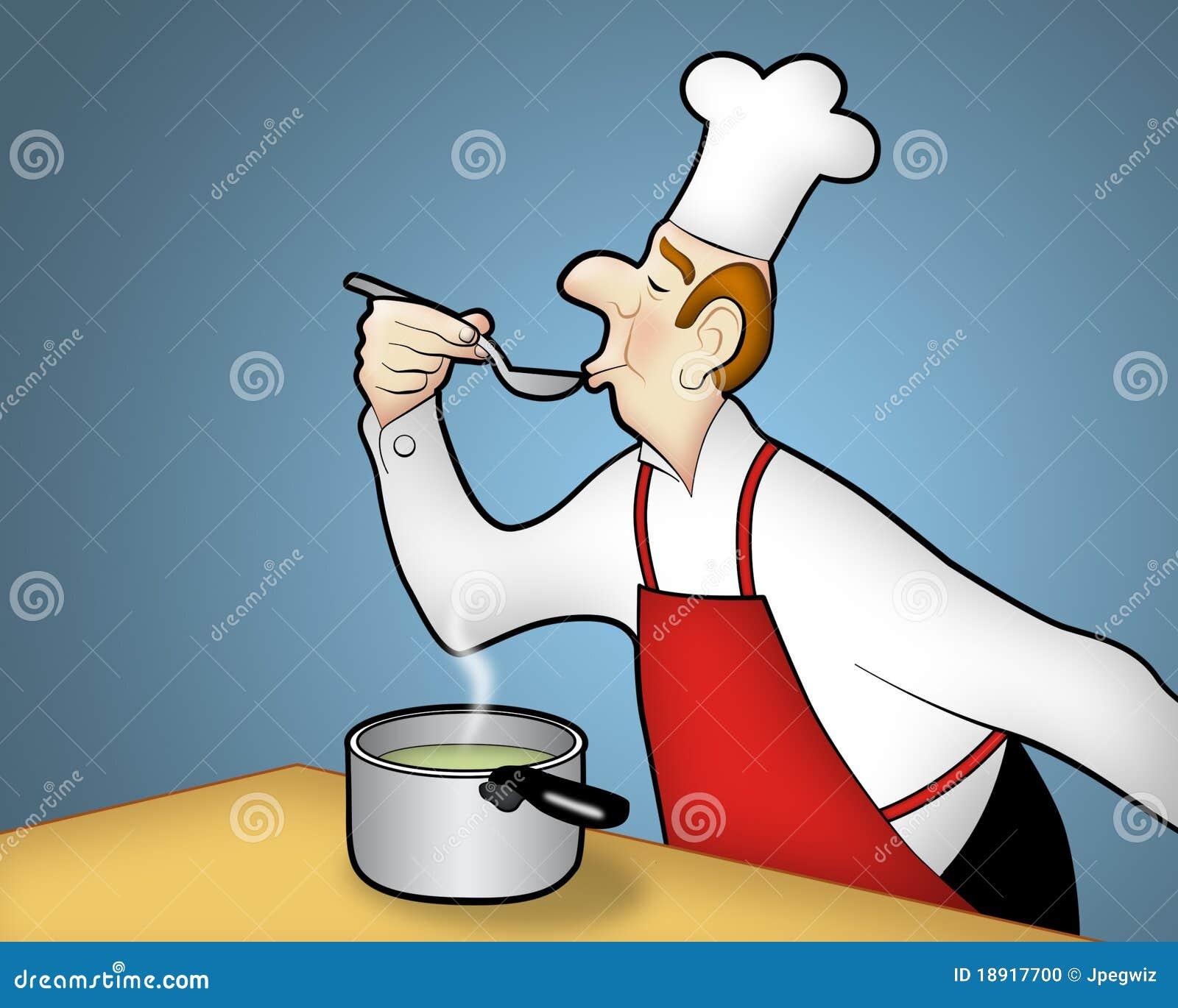 Het koken van de chef kok stock foto beeld 18917700 for Beeldkoken