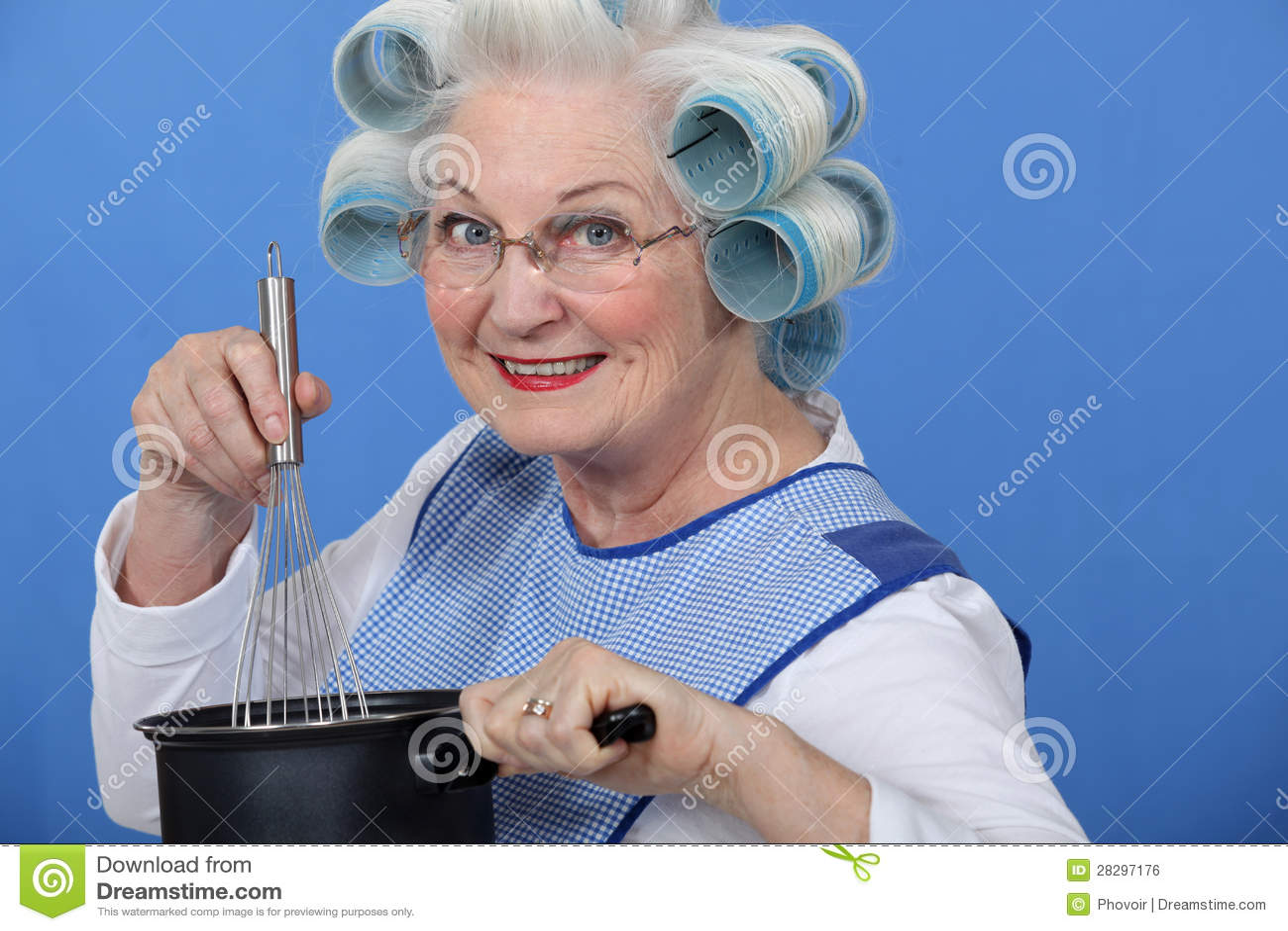 Het koken van de oma royalty vrije stock afbeelding beeld 28297176 for Beeldkoken