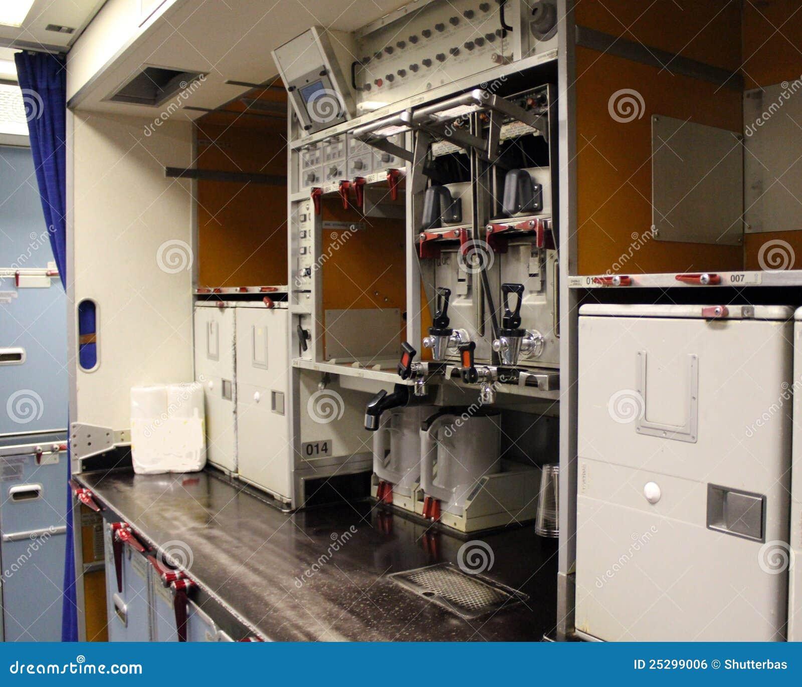 Het kombuis van vliegtuigen stock foto afbeelding 25299006 - Kombuis keuken ...