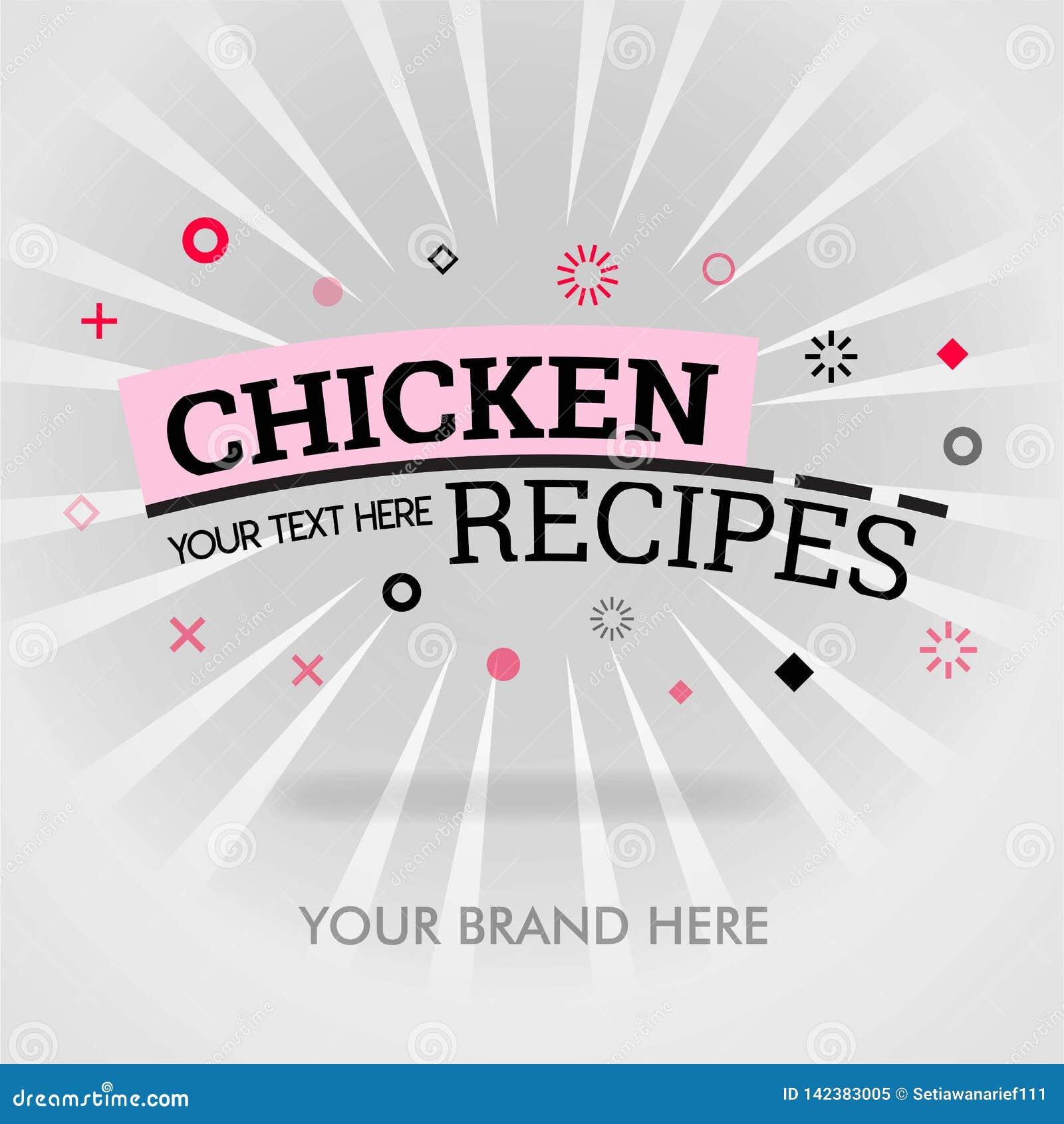 Het kookboek van kippenrecepten hoe te om kippenrecepten te koken uiteinden om beste kippenrecepten te maken kan voor bevordering