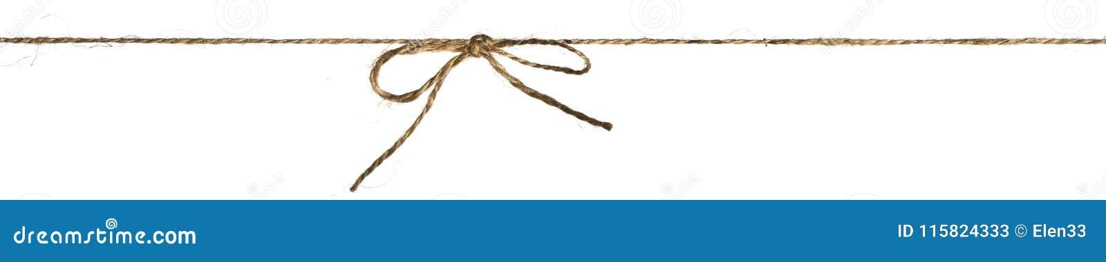 Het koord of de gevlechte streng bond een geïsoleerde boog vast