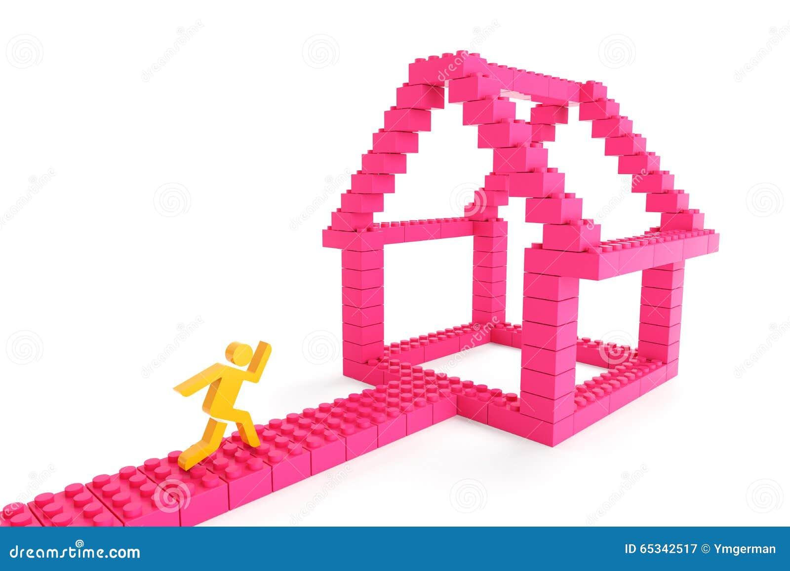 Het kopen van een nieuw huis stock illustratie afbeelding 65342517 - Nieuw huis ...