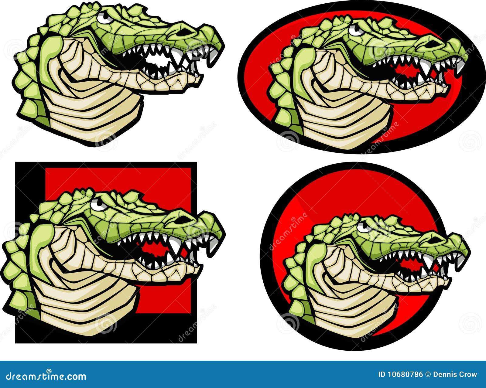 Het krokodille Embleem van de Mascotte
