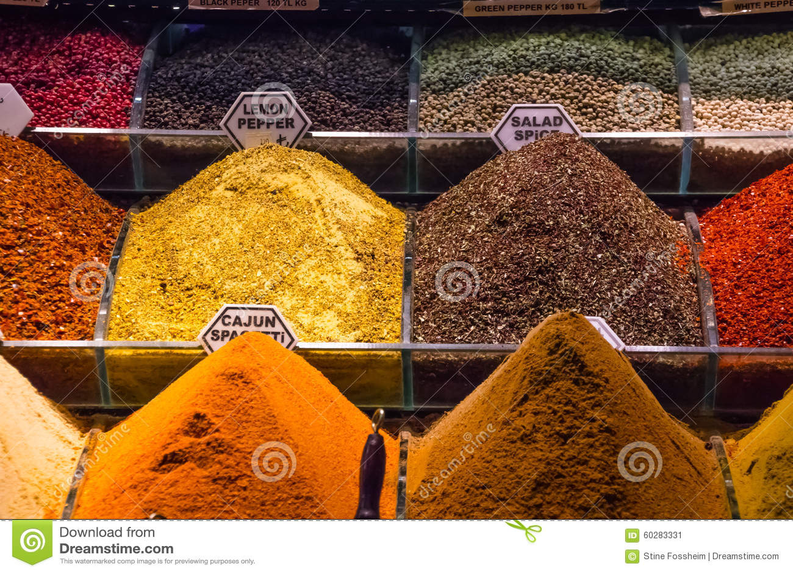 Het Kruidmarkt van Istanboel
