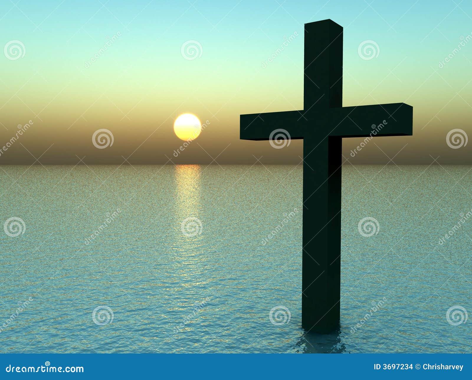 Het kruis in Water bij Zonsopgang 21