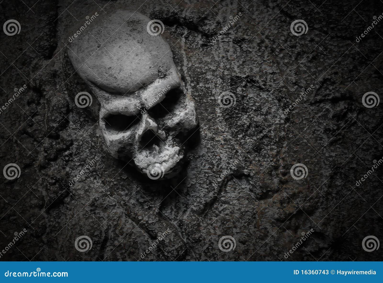 Het kwade Enge Skelet van Halloween
