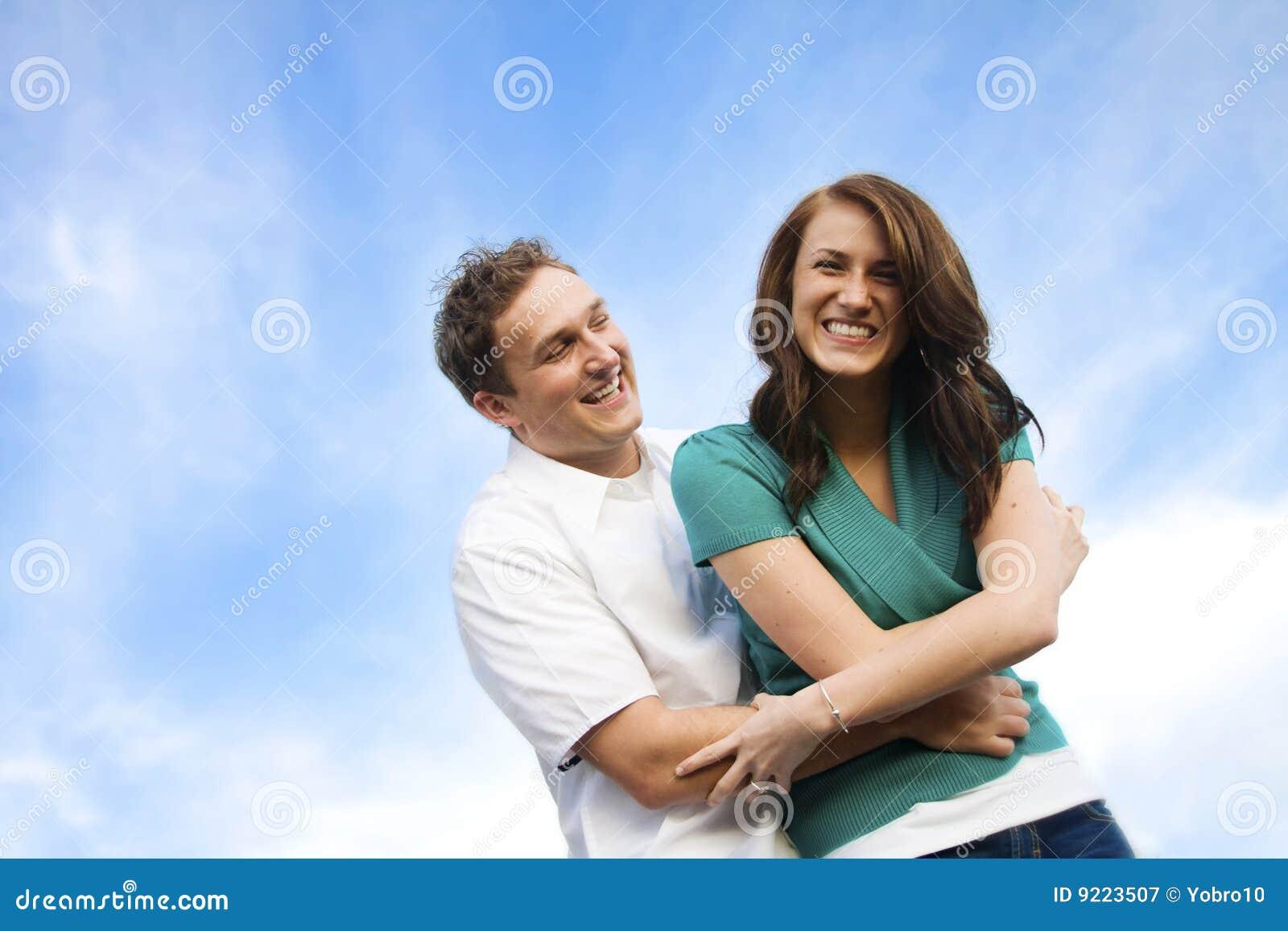 Flirten lachen