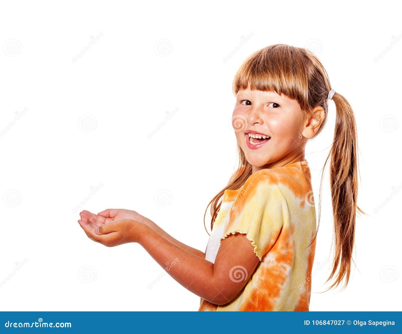 Het lachen meisje het vangen