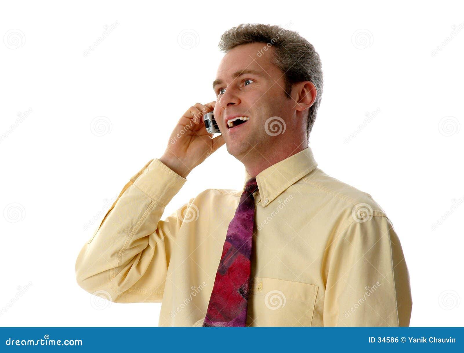 Het lachen op de telefoon