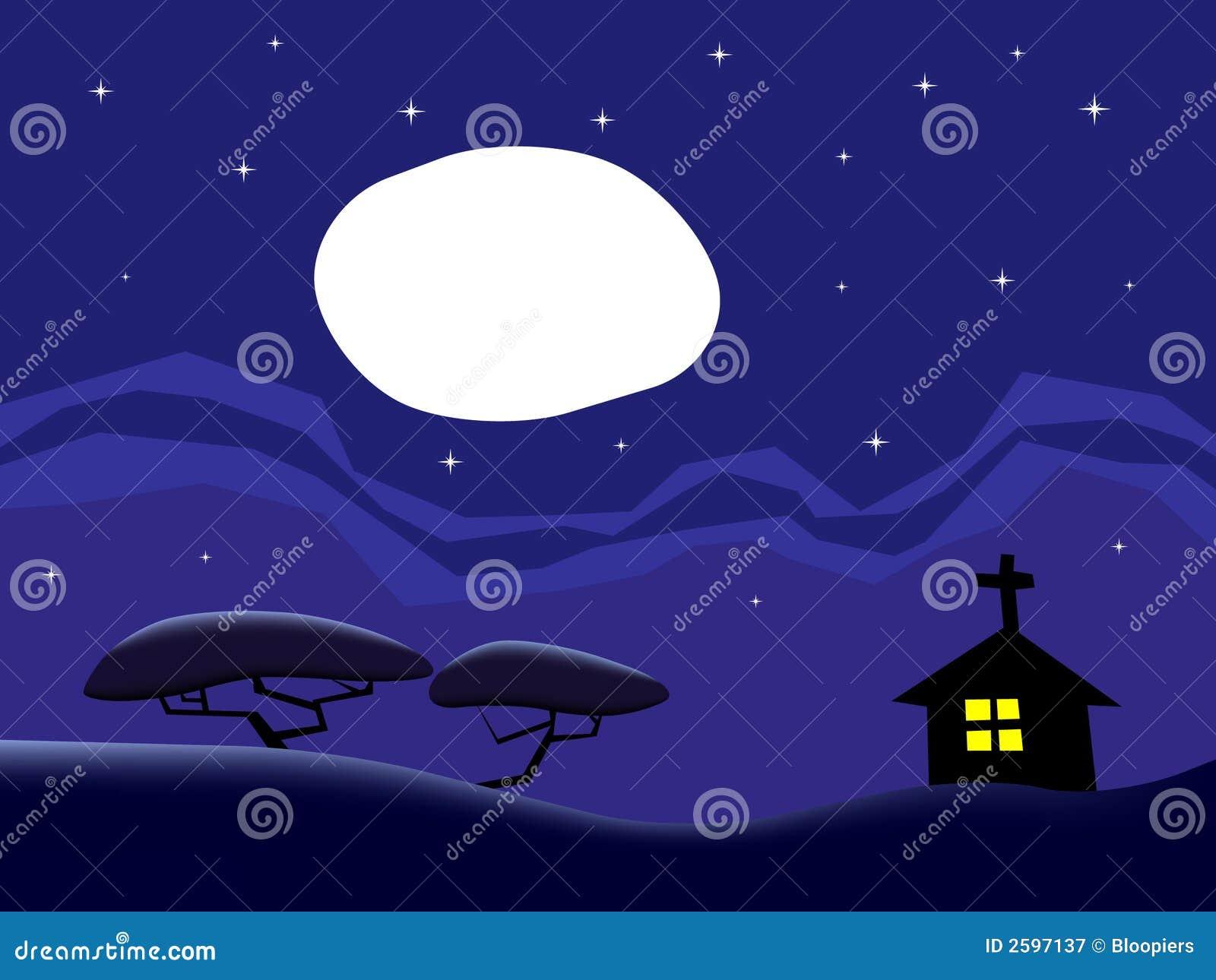 Het land bij nacht