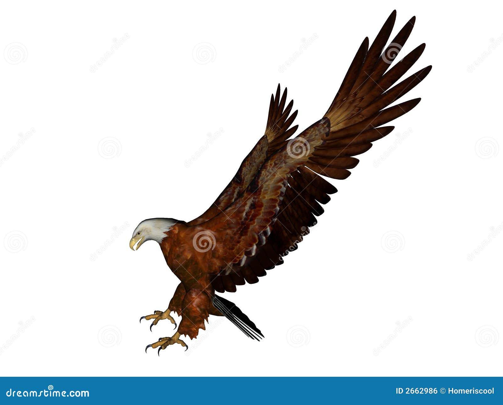 Het landen van de adelaar