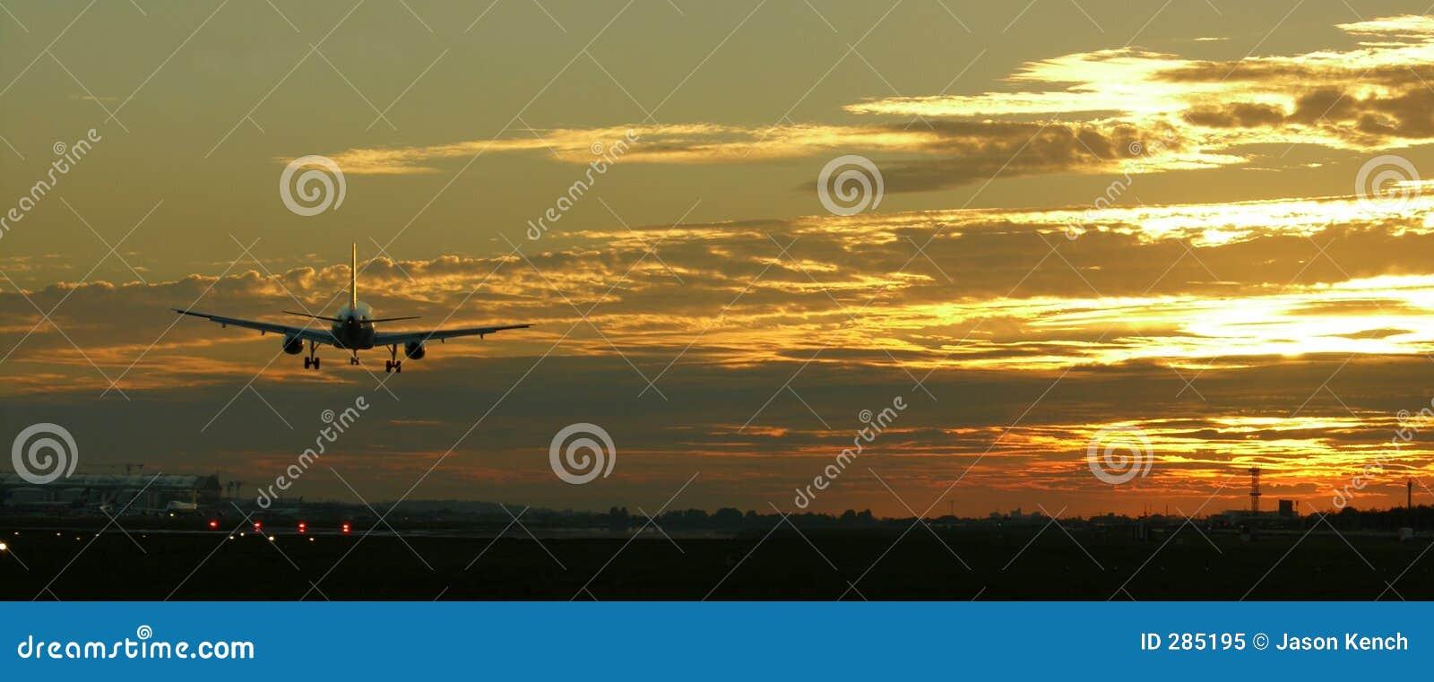 Het Landen van vliegtuigen