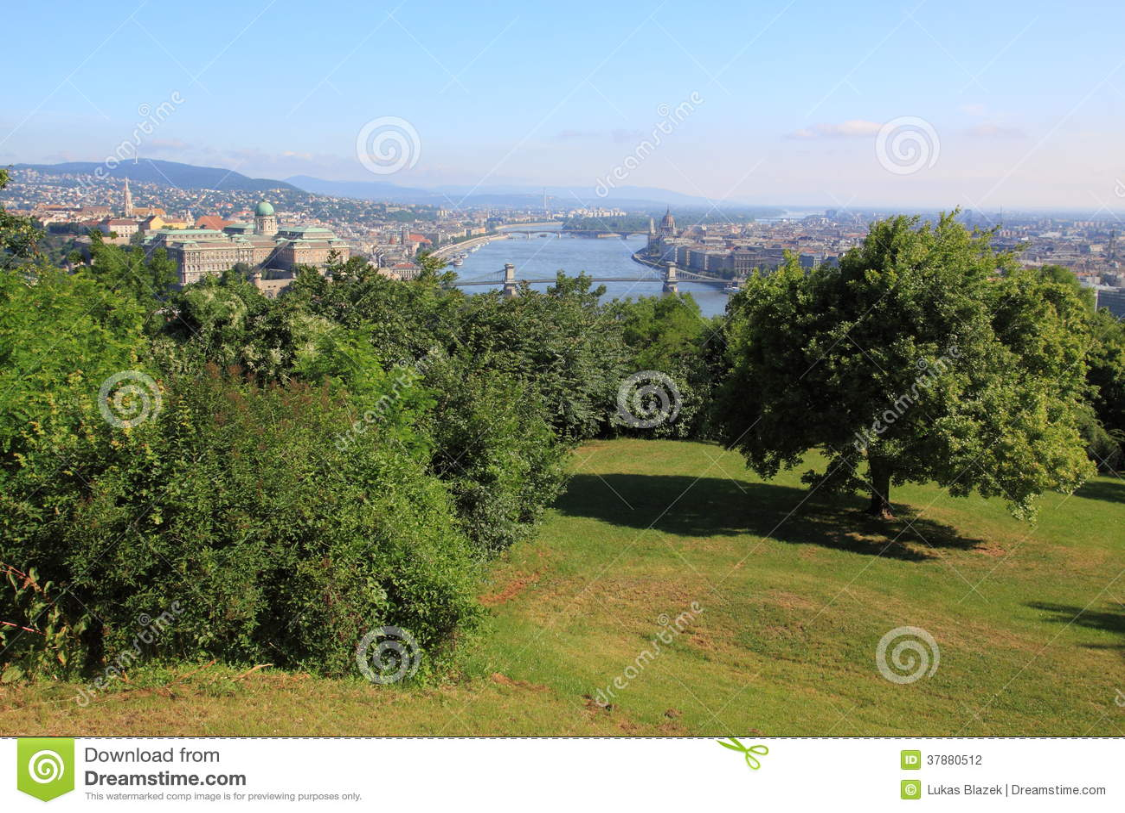 Het landschap van Boedapest