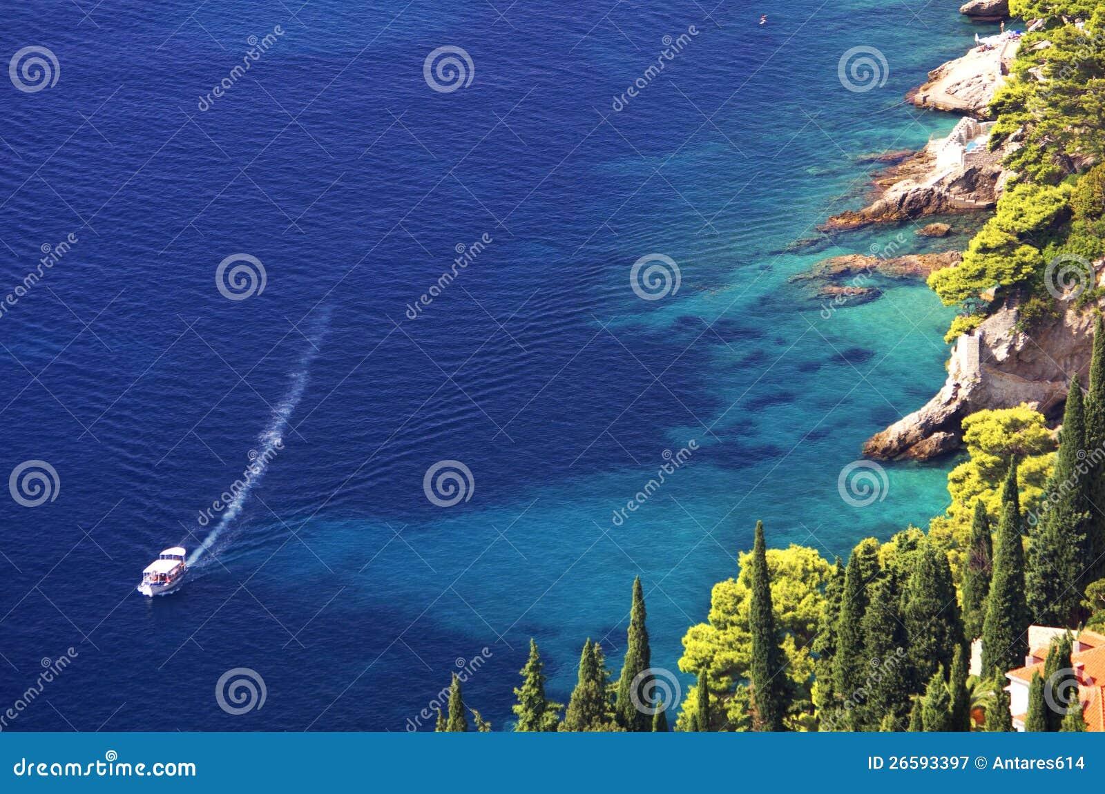 Het landschap van de boot