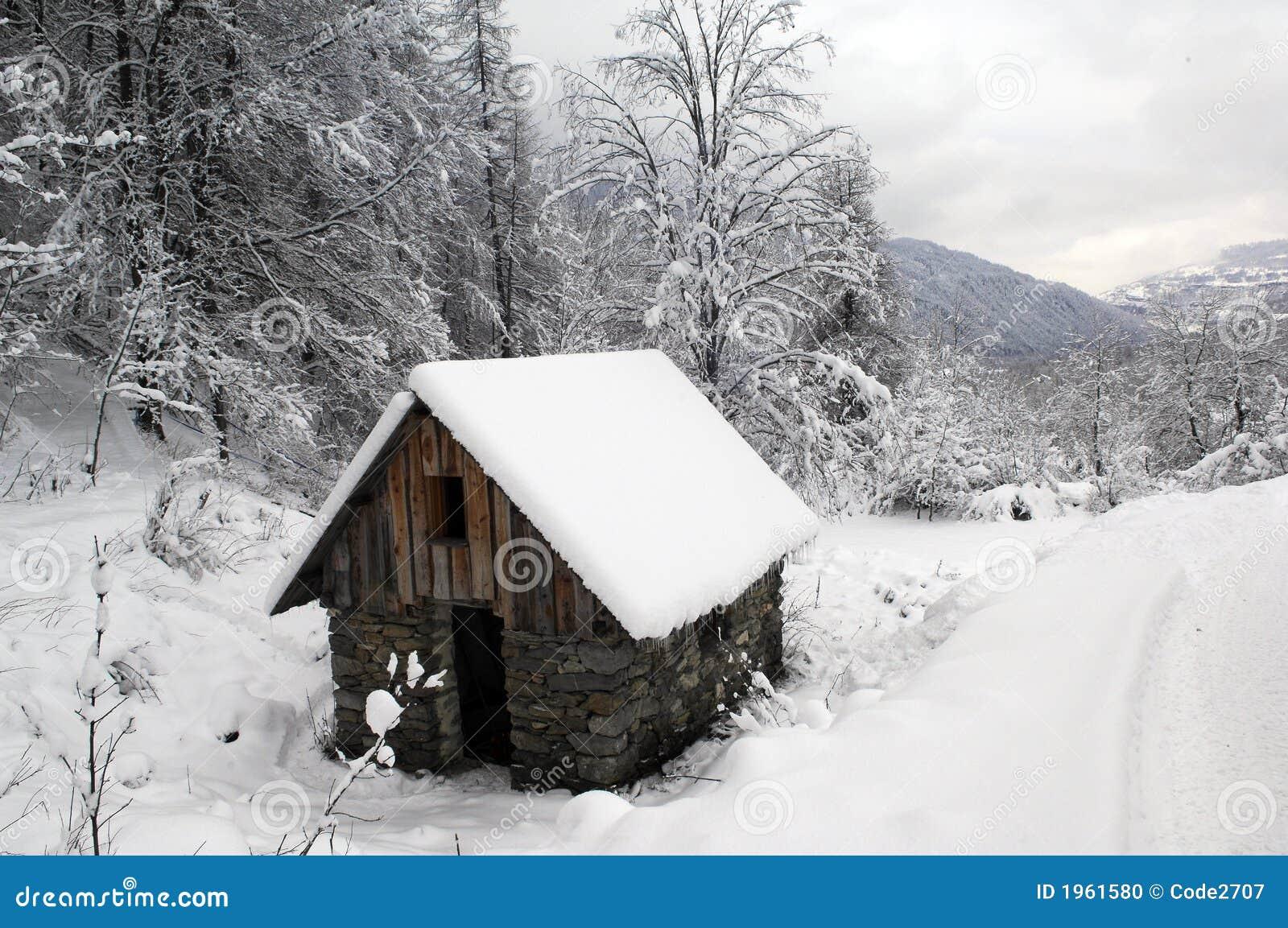 Het landschap van de sneeuw