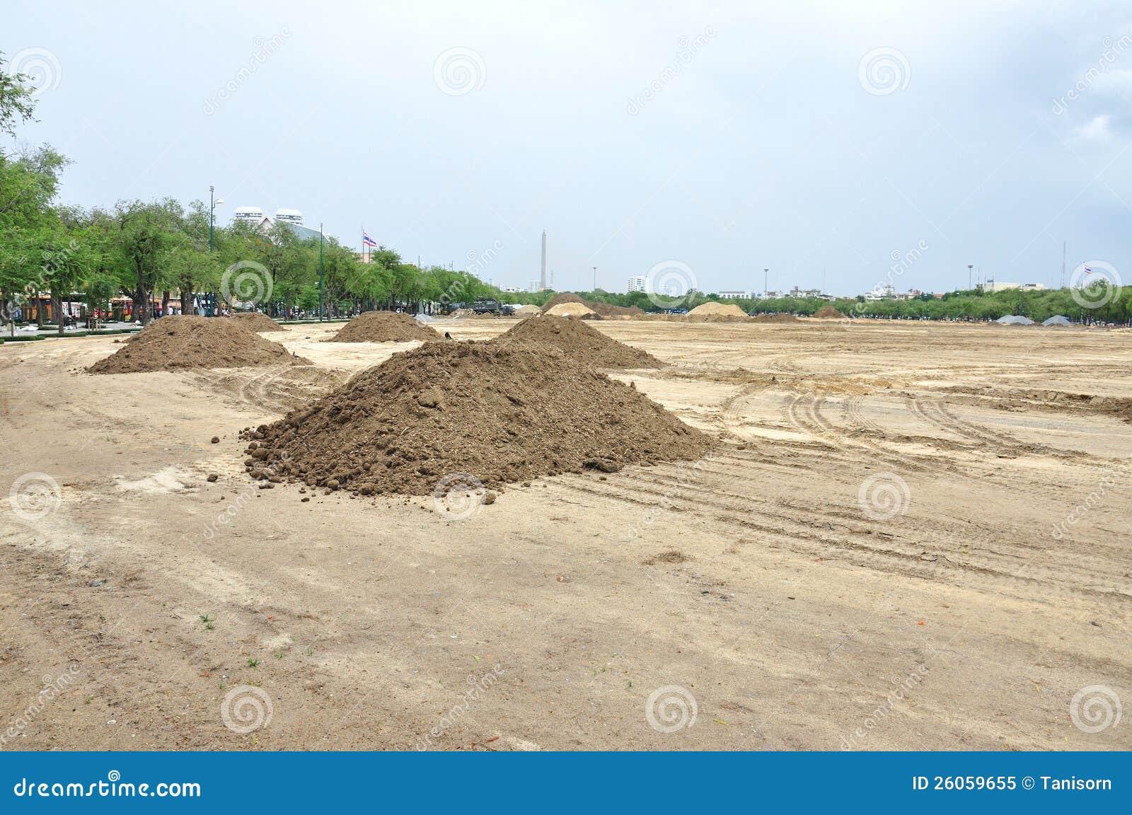 Het landschap van de voorbereiding voor bouw