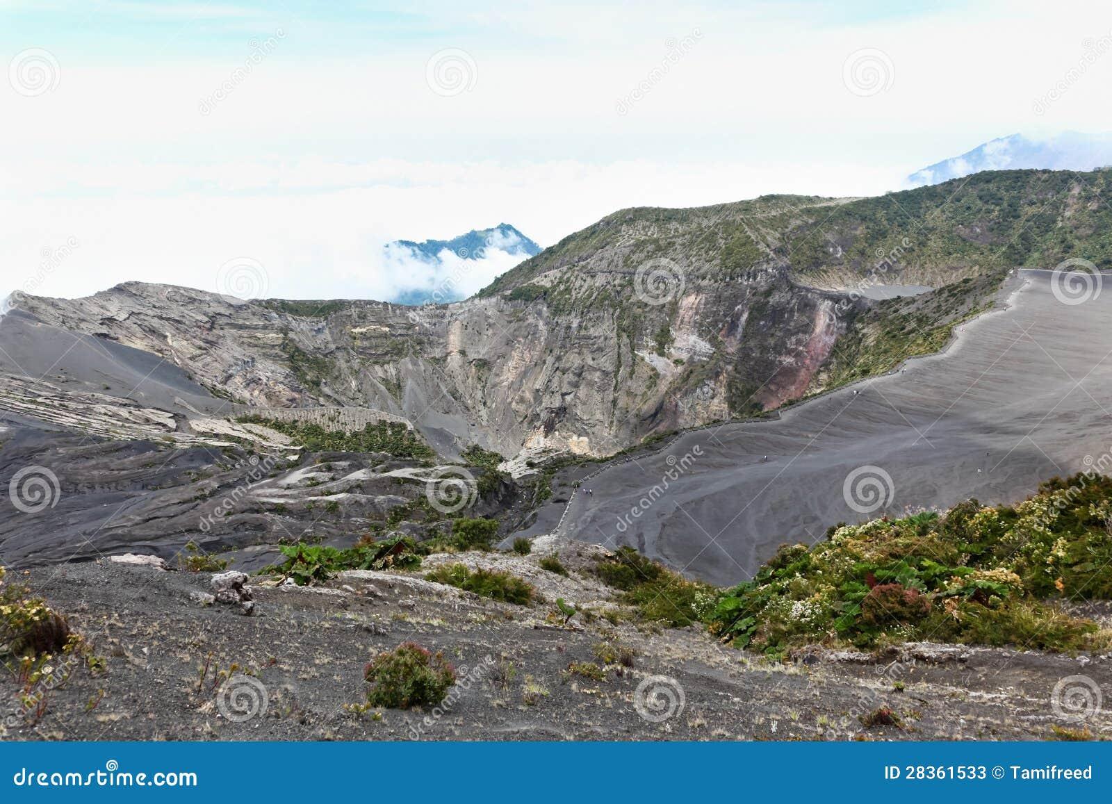 Het Landschap van de Vulkaan van Irazu